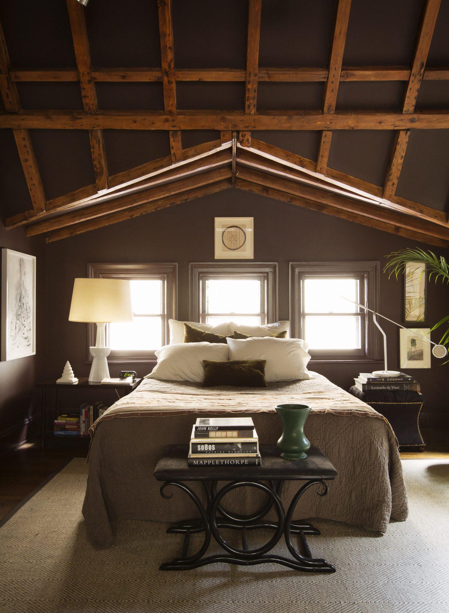 'Paris Atelier' bedroom in Brooklyn Heights attic by Glenn Gissler