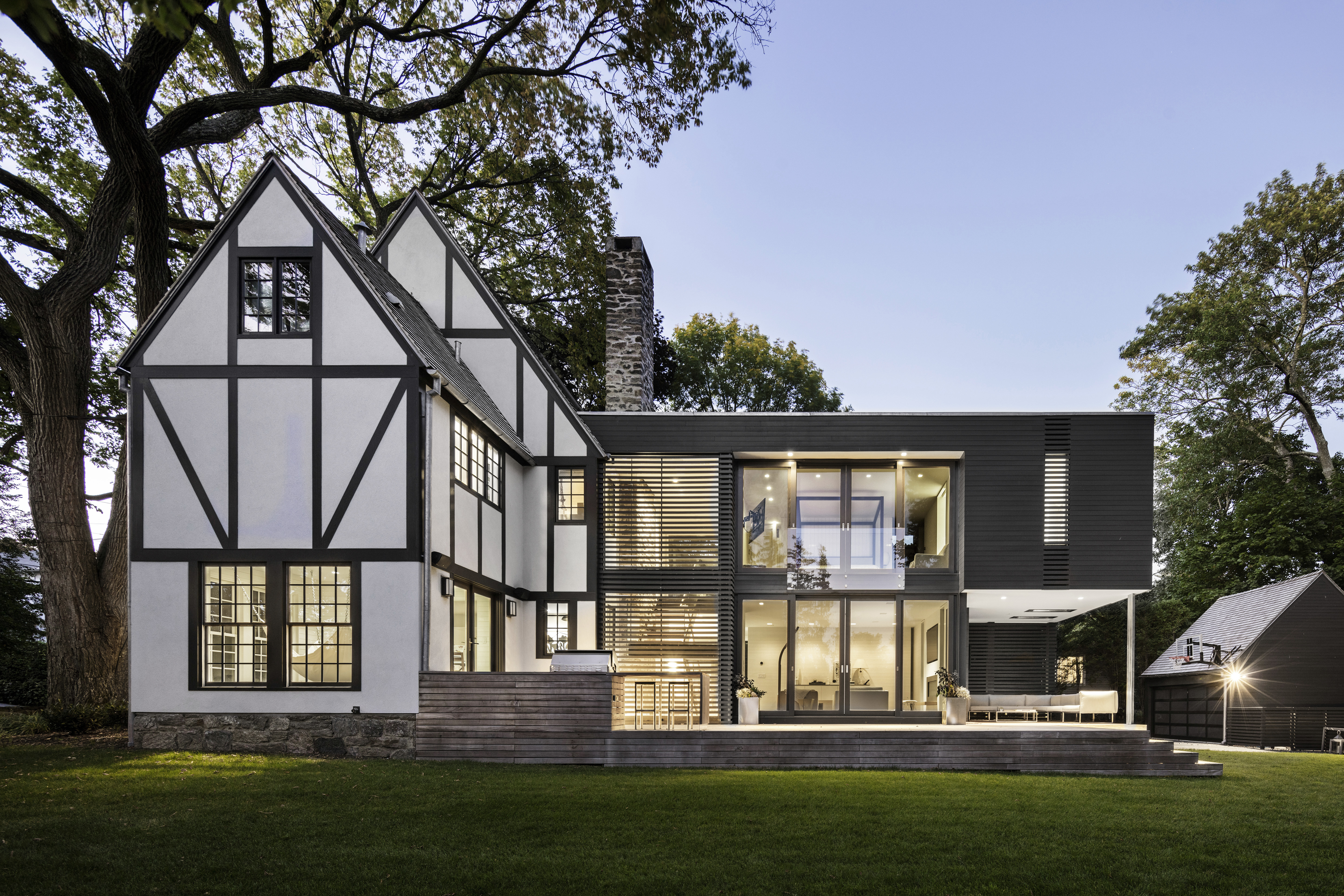 35HP: Tudor Style House with Modern Addition by Joeb Moore & Partners
