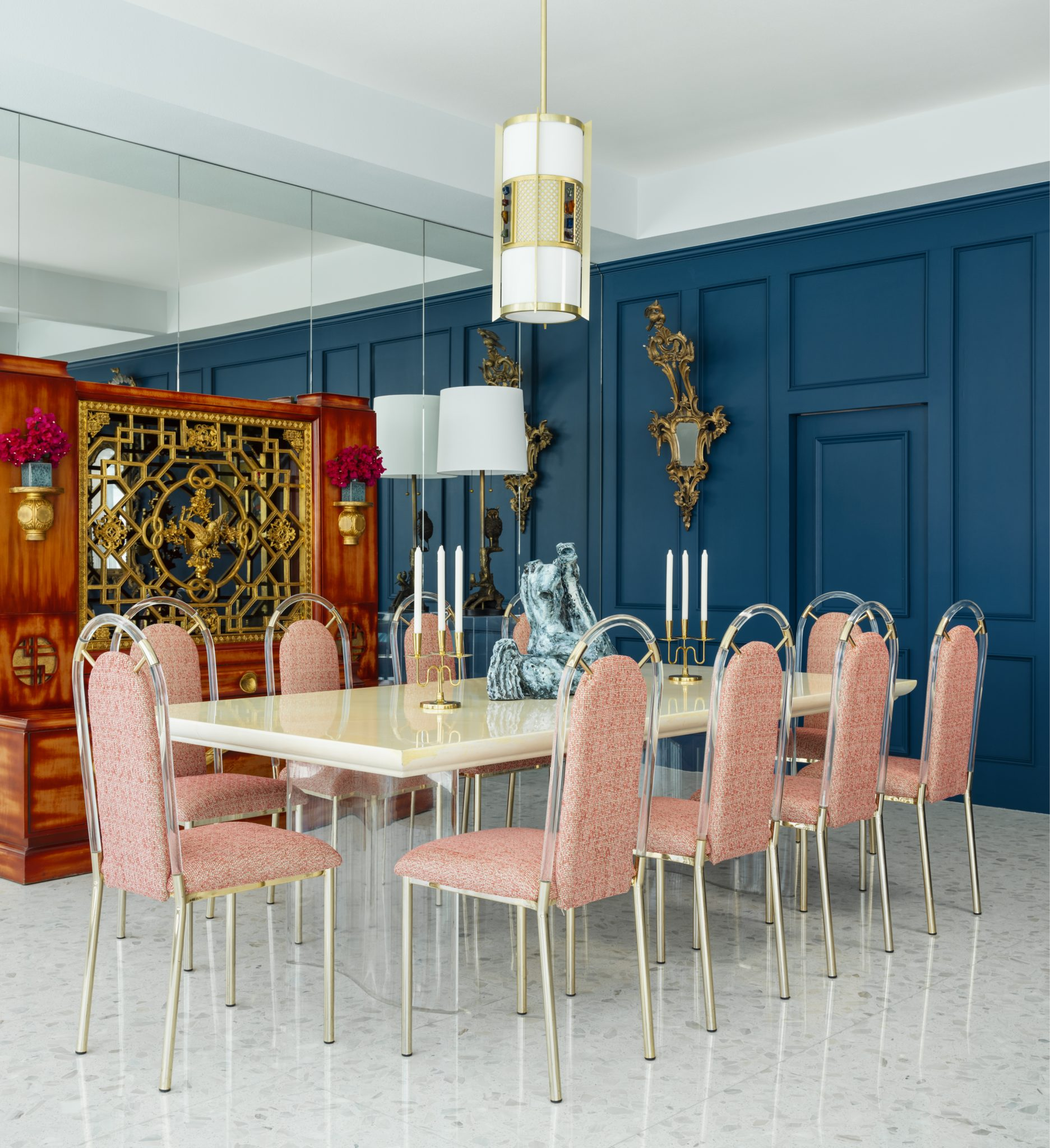 San Simeonita Dining Room in palm Springs by Anthony Cochran Design