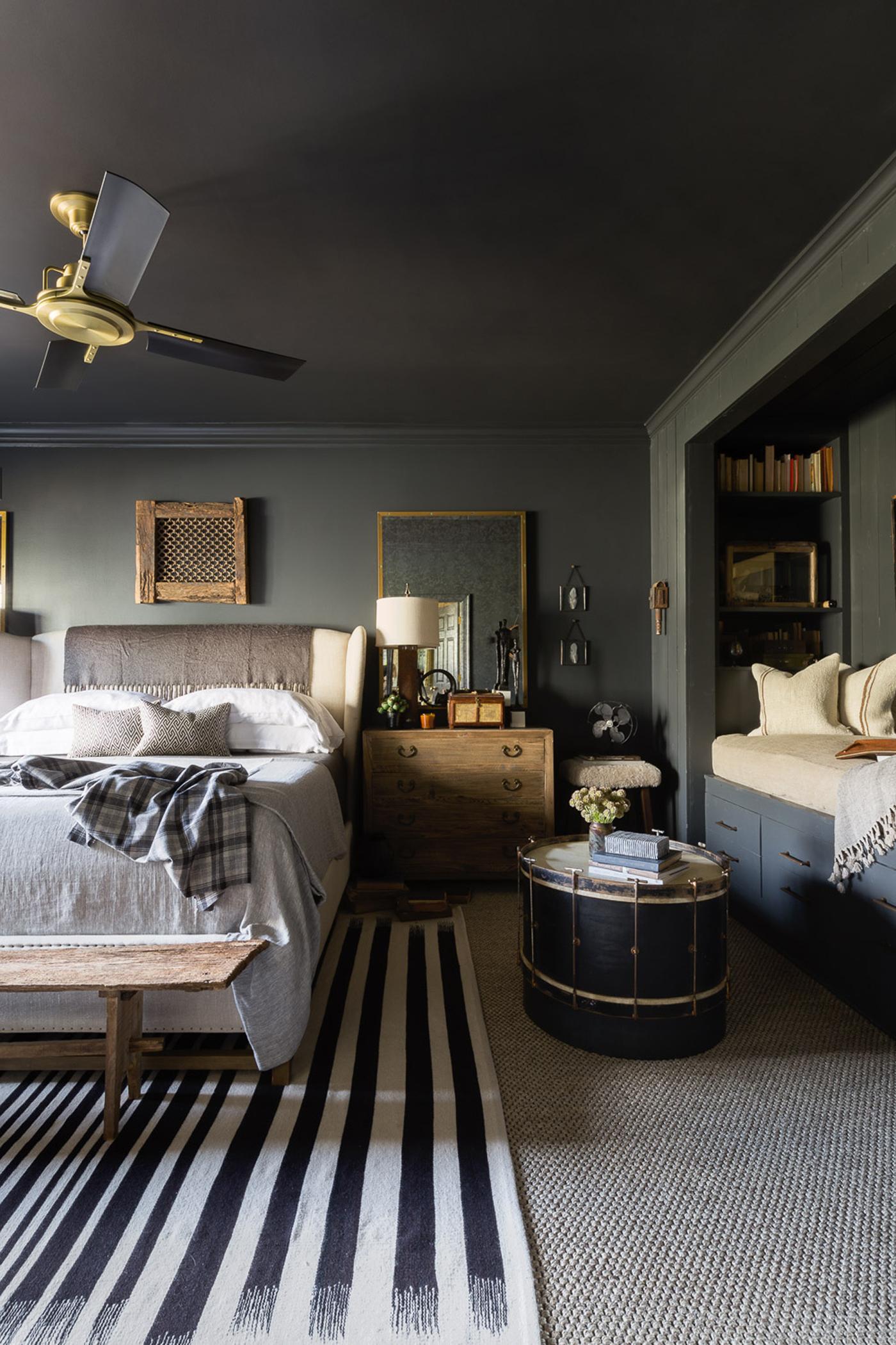 A moody master bedroomby Sean Anderson Design