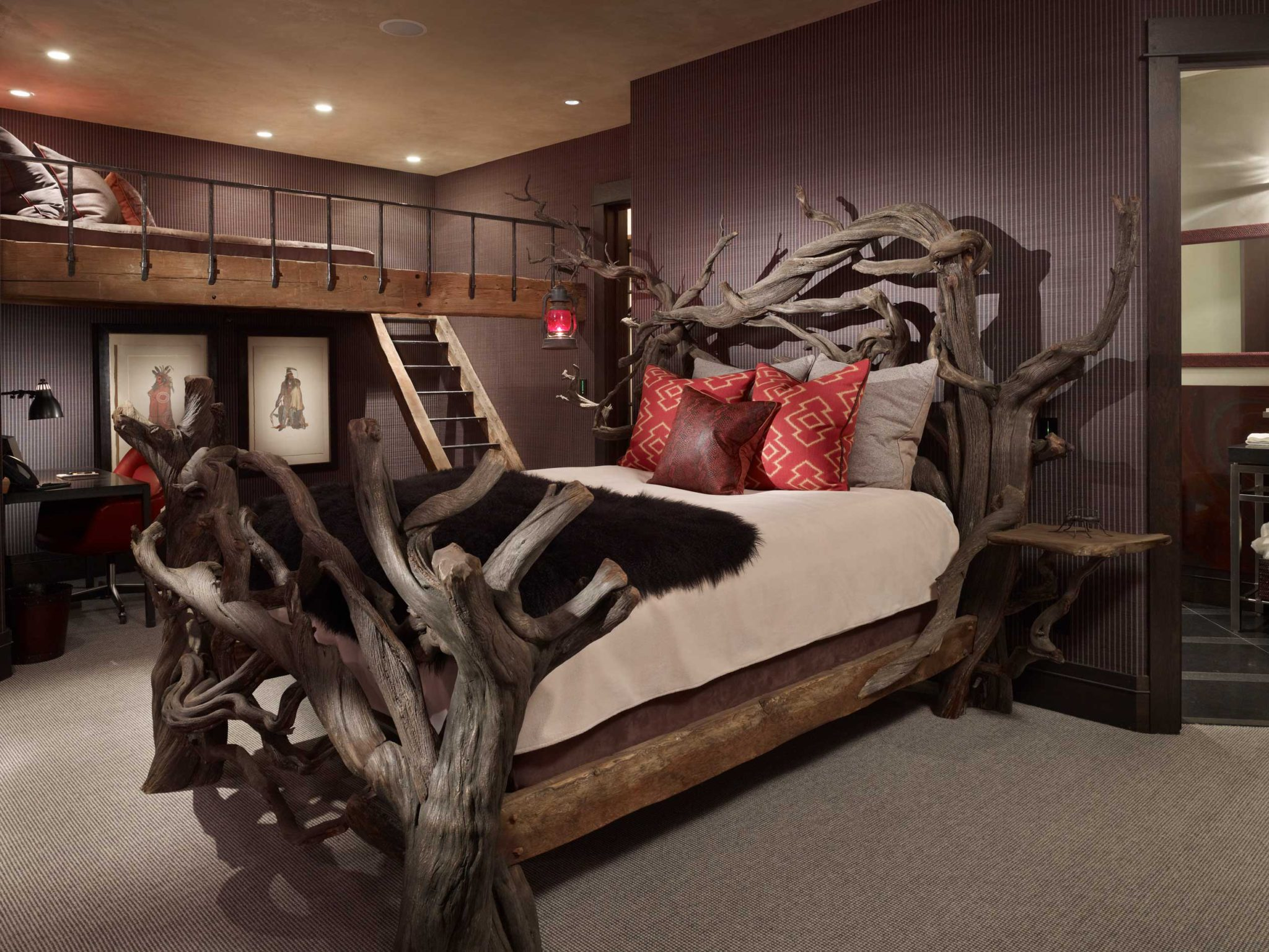 High Alpine Ranch residence - Yellowstone Club, MT - guest bedroom by LKID