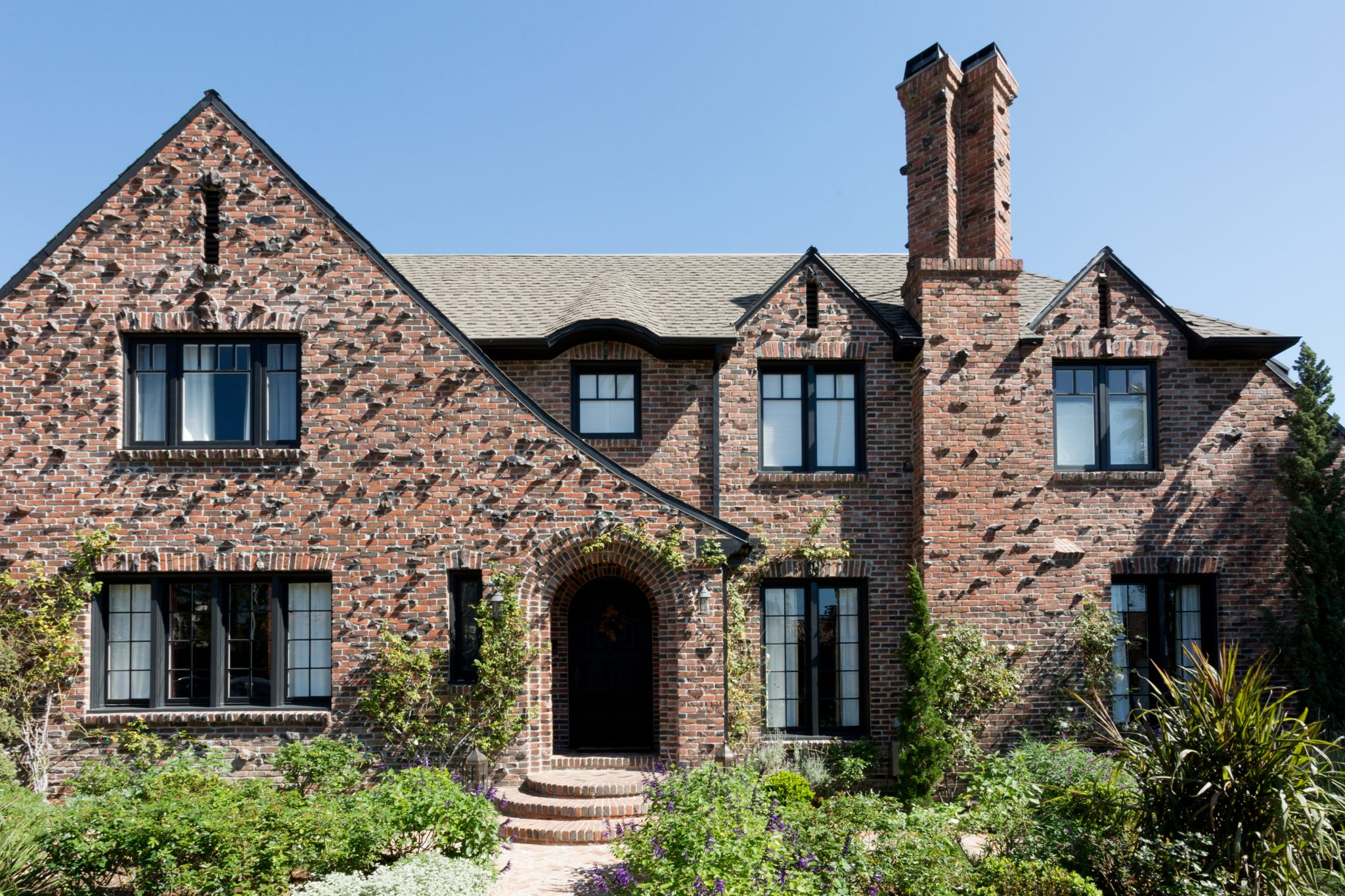 Brick Tudor Front Facade by Paul Brant Williger, Architect Inc.