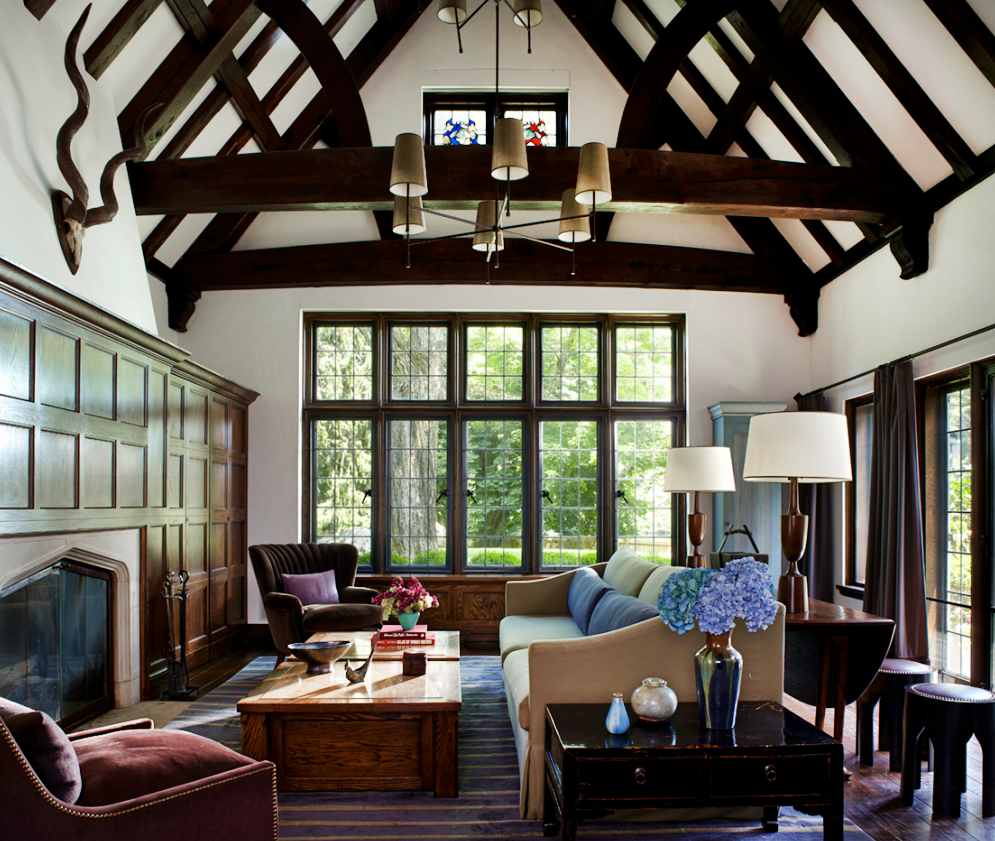 Tudor Country Family Room by Anthony Cochran Design