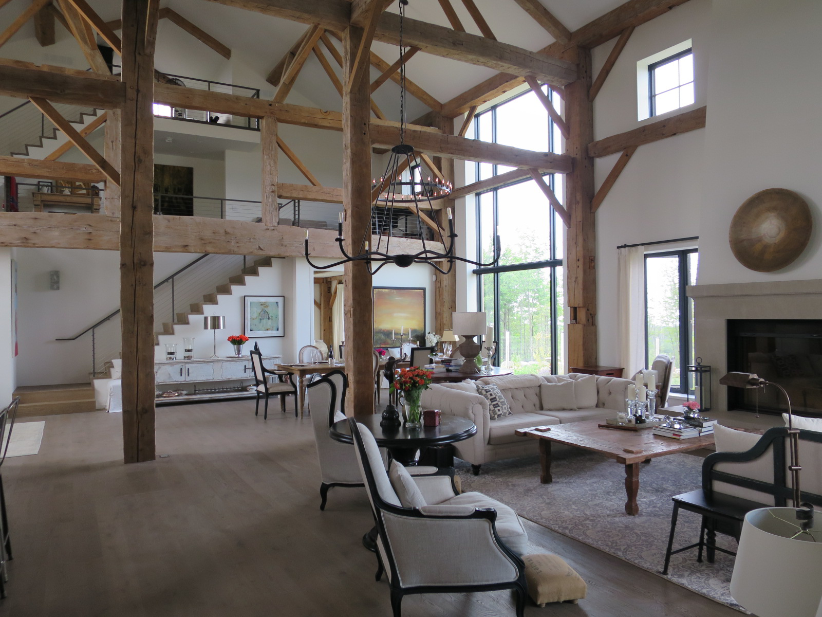 Great room in the barn. by Rowlands Associates