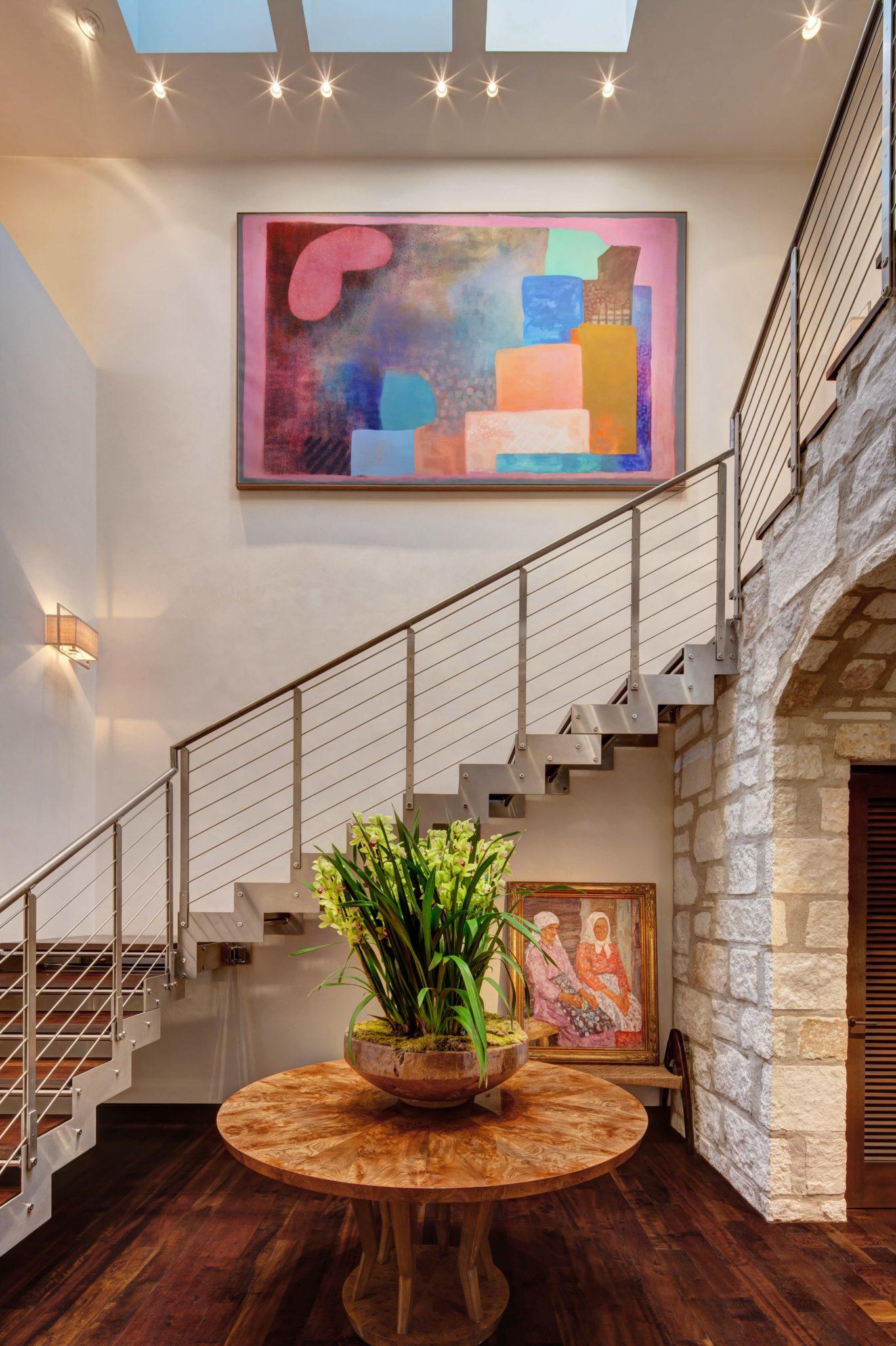 Stair Vestibule by Barbara Lee Grigsby Design Associates Inc.