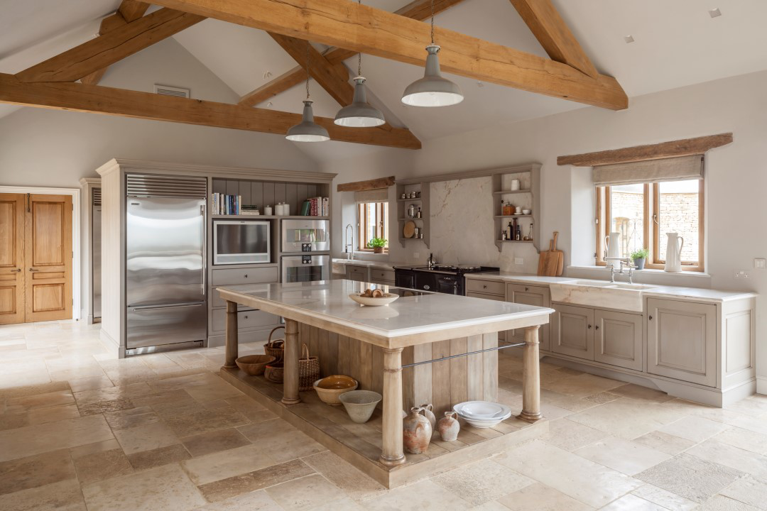 A Flemish inspired kitchen designed by Artichoke for a country house in England. by Artichoke