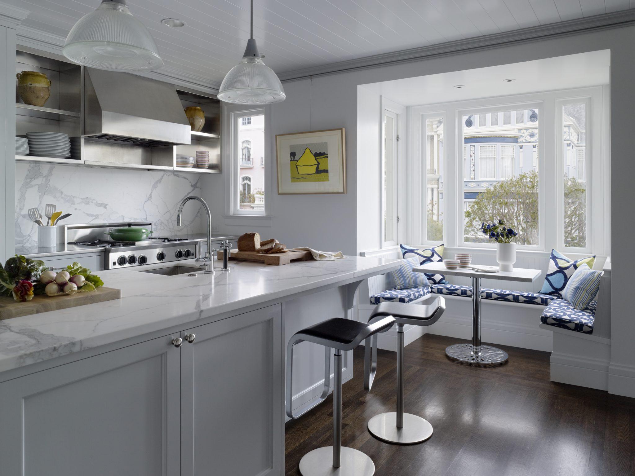 Kitchen and breakfast nook by JKA Design