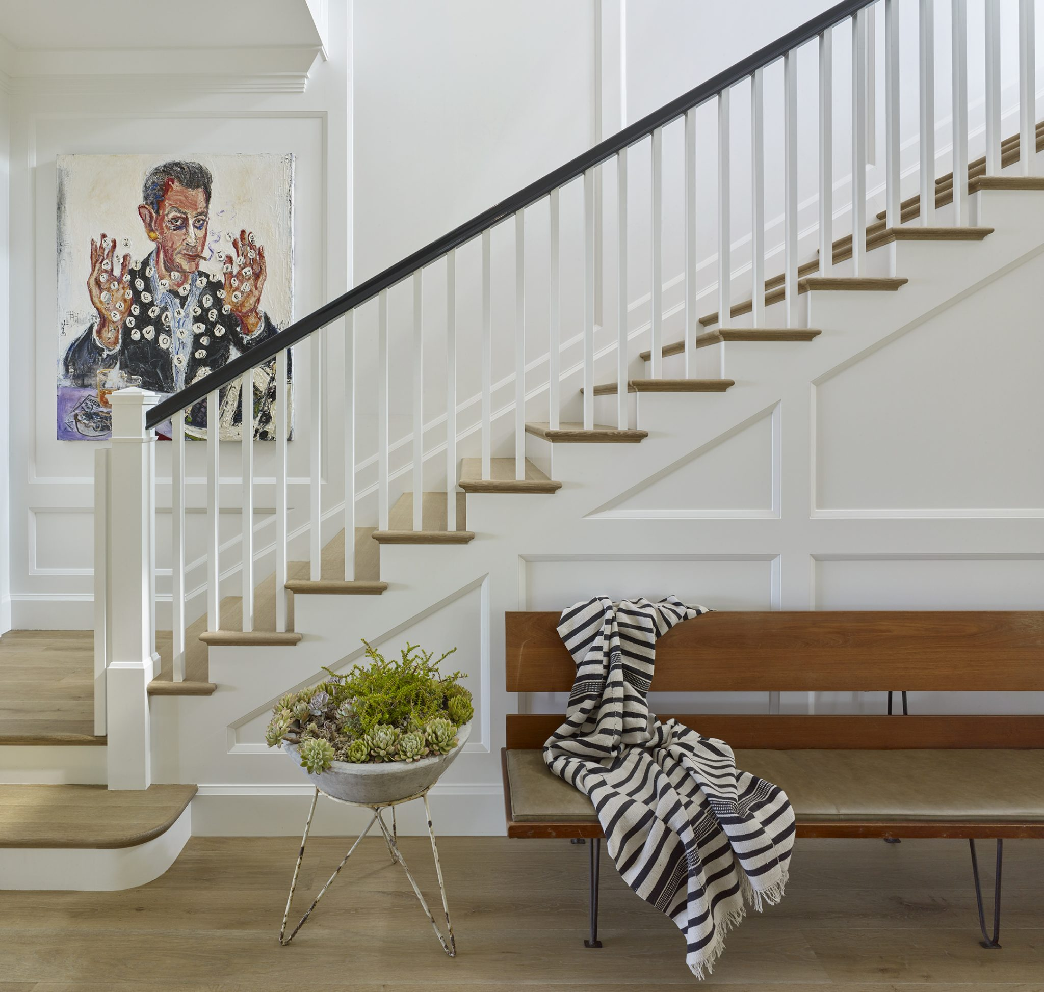 Pacific Palisades staircase and foyer by Dan Scotti Design