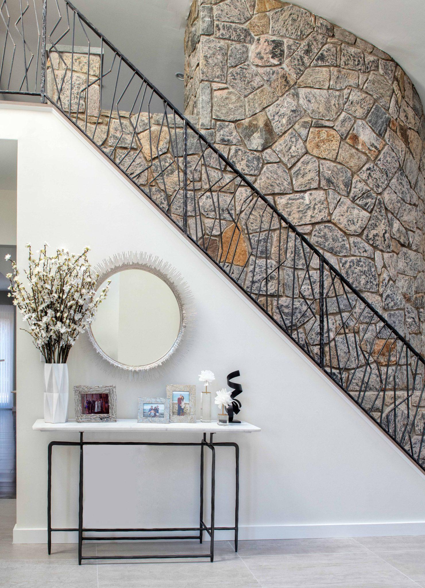 Modern Foyer Renovation by Lara Michelle Interiors
