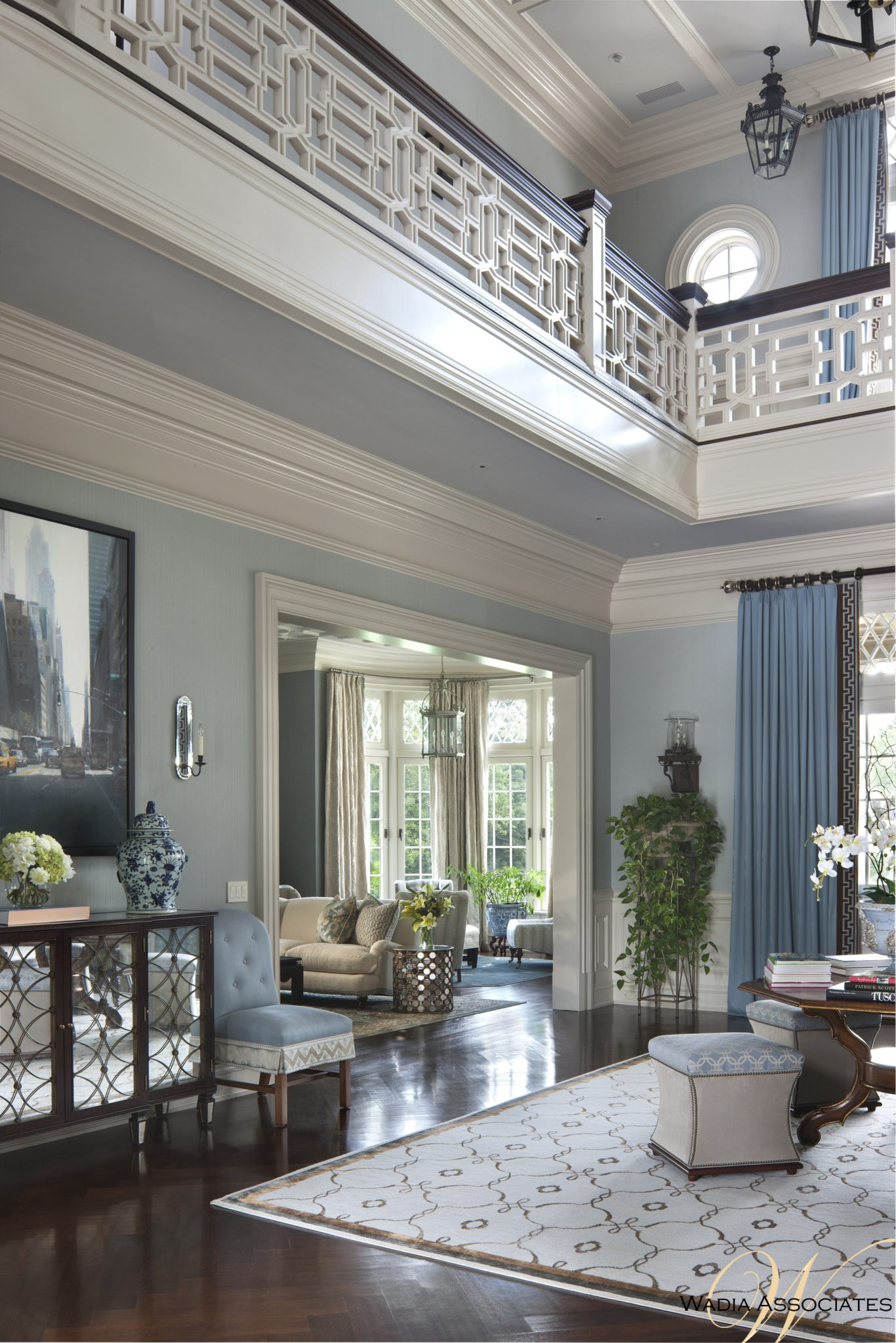 From banister detailing to the use of natural lighting, we let the space take on the personality of the homeowner within the context of Jacobean vernacular, creating a one of a kind home. by Wadia Associates