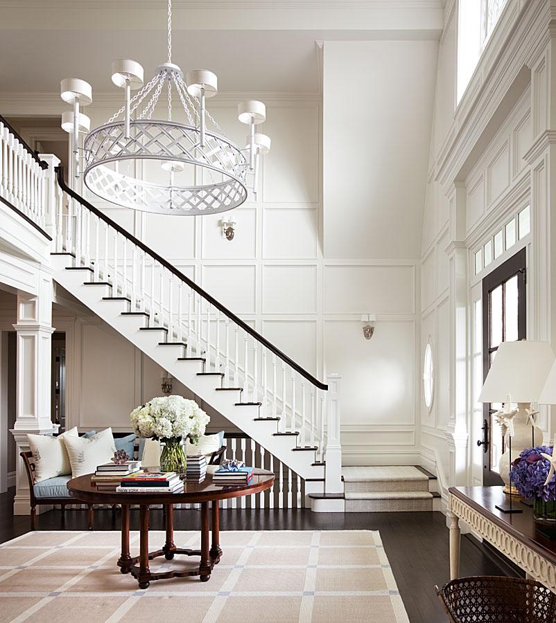 A sophisticated foyer by Alexa Hampton