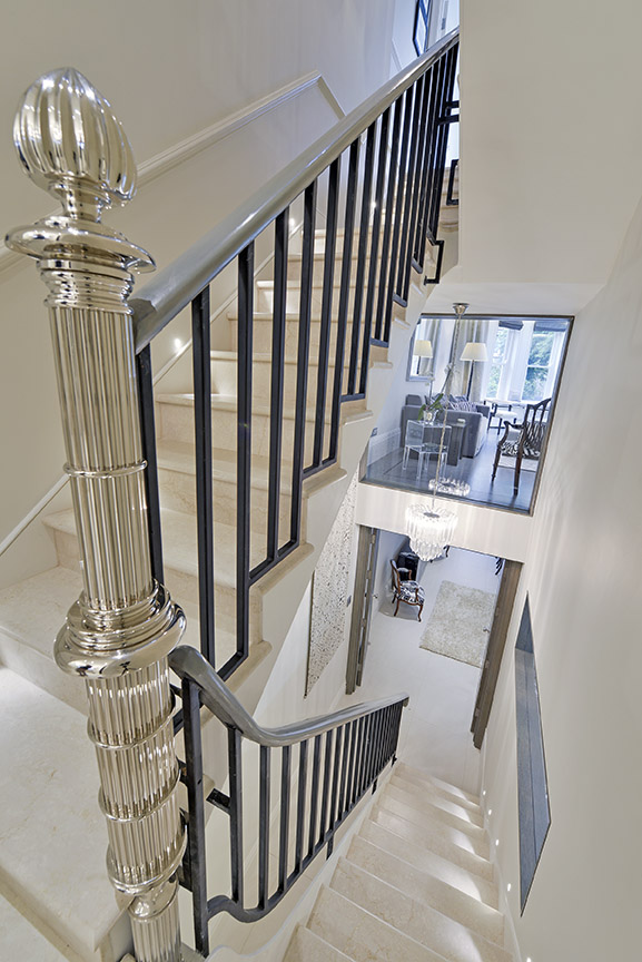 Bespoke Newel Post, Private Residence by Collier Webb