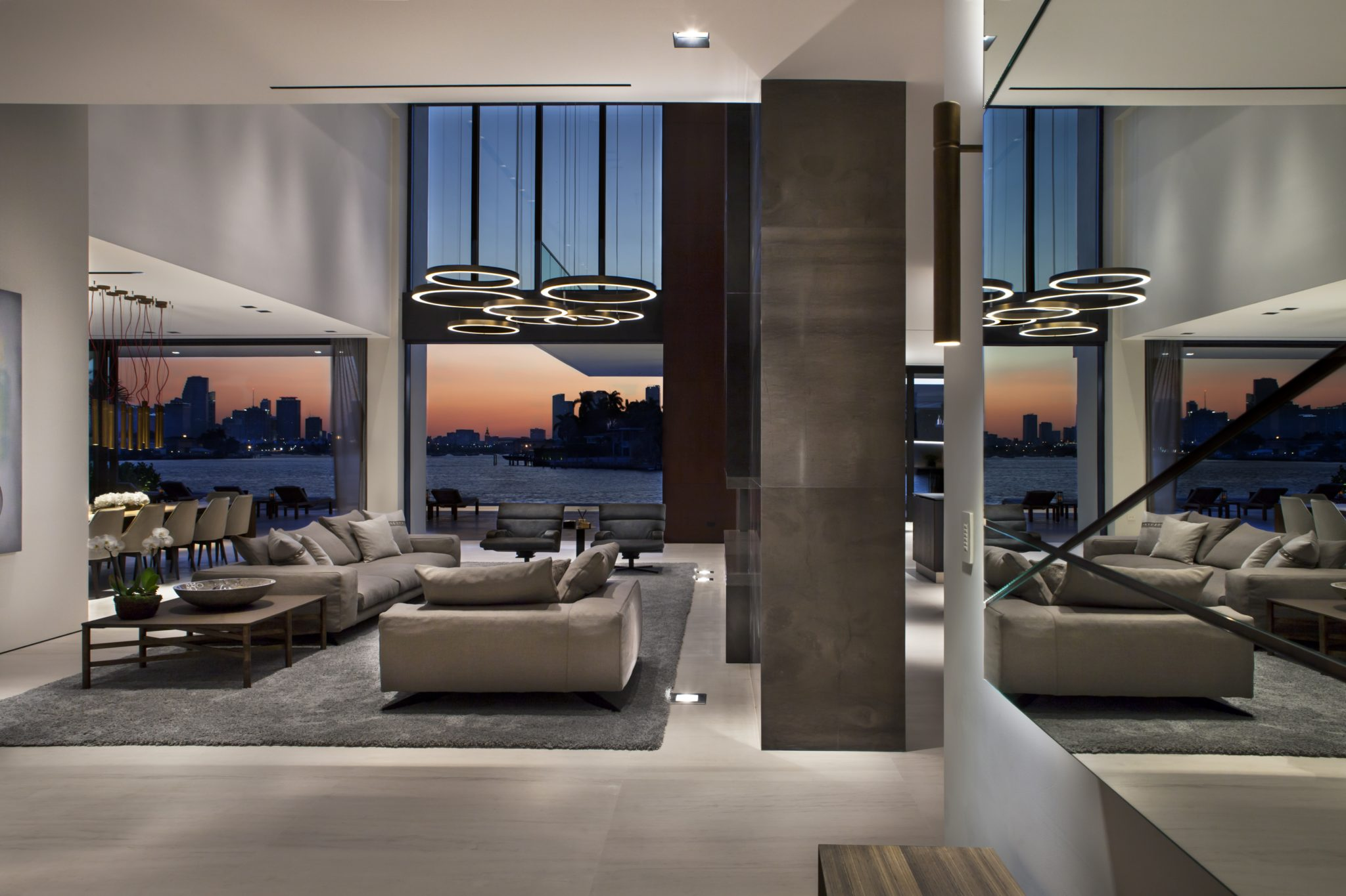 A blend of modern design and materials that create a warm yet elegant home,by Dunagan Diverio Design Group