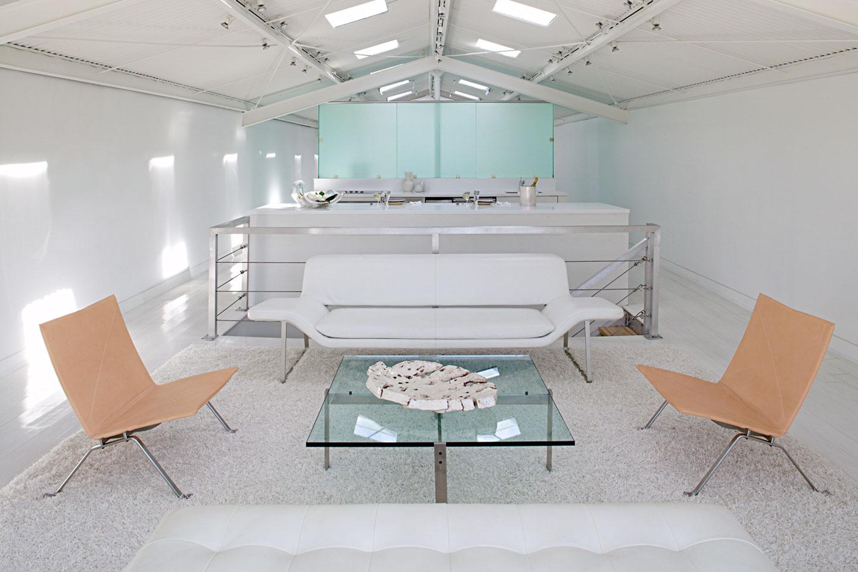 Lake Pontchartrain Boathouse - Living Room by Lee Ledbetter & Associates