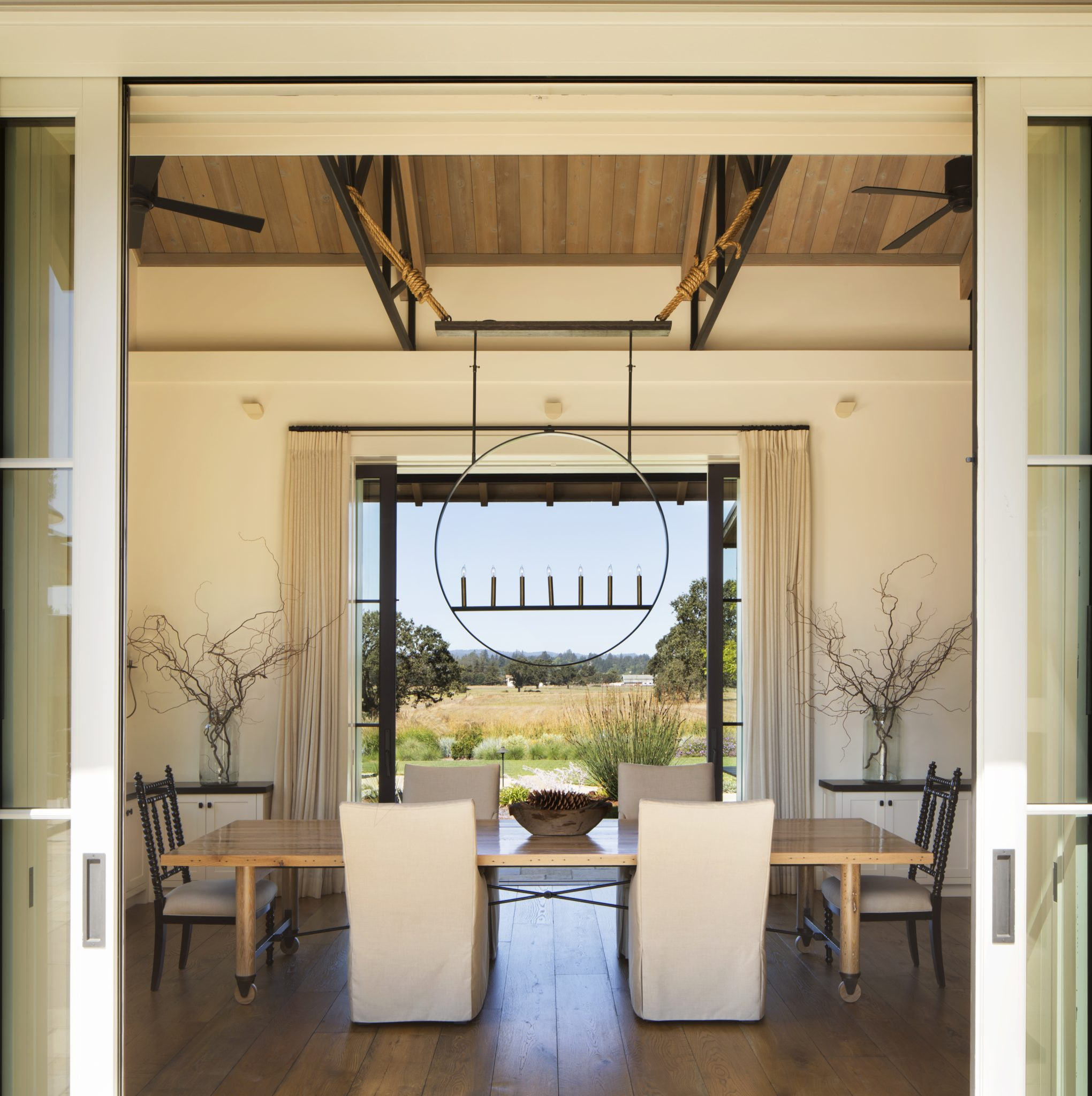 Dining Room Laguna de Santa Rosa Residence by Wade Design Architects