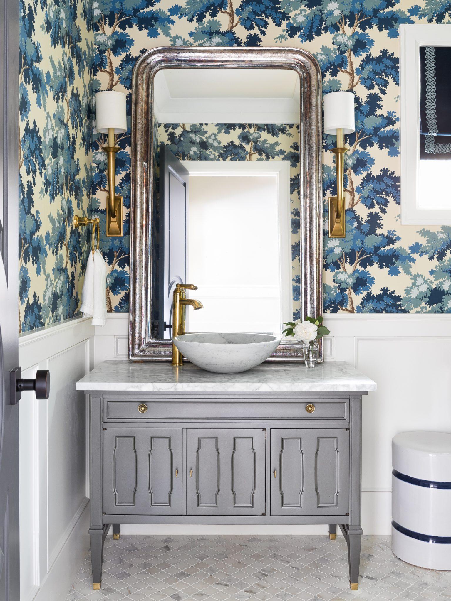 Laurelhurst Powder Room by Marianne Simon Design