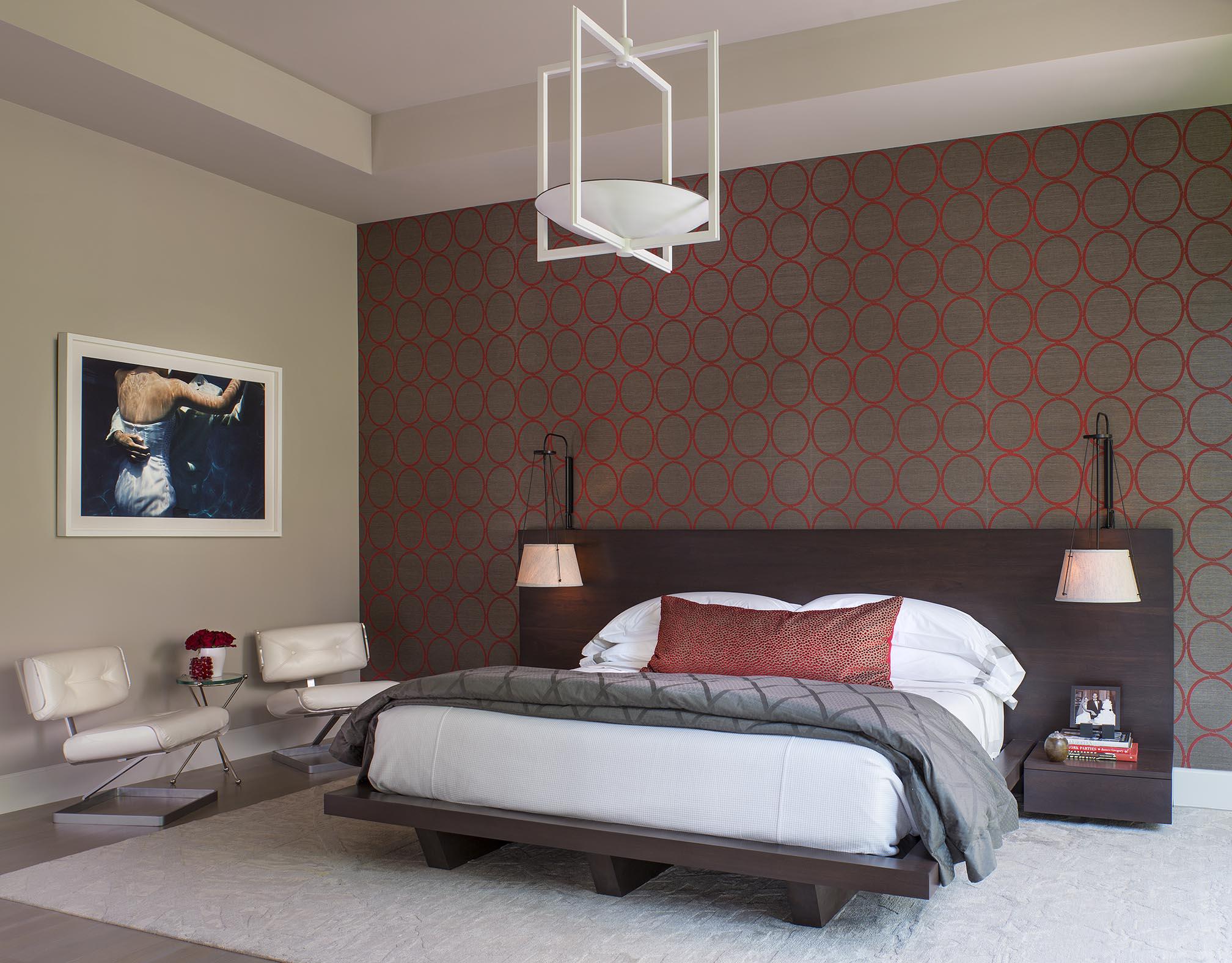 Modern master bedroom by Denise McGaha Interiors