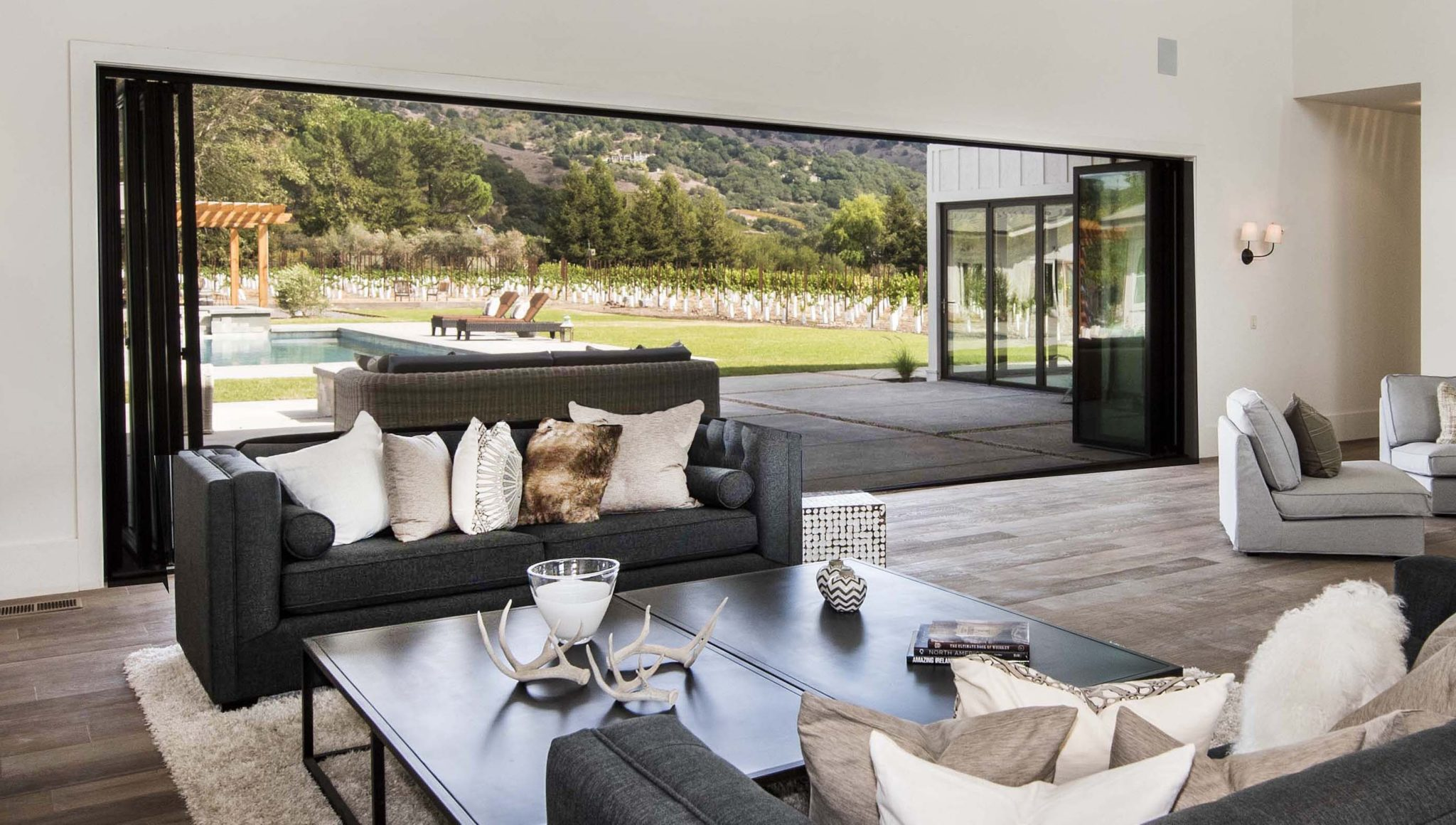 Yountville Farmhouse, Family Room by Paulina Oldenbrook Interior Design