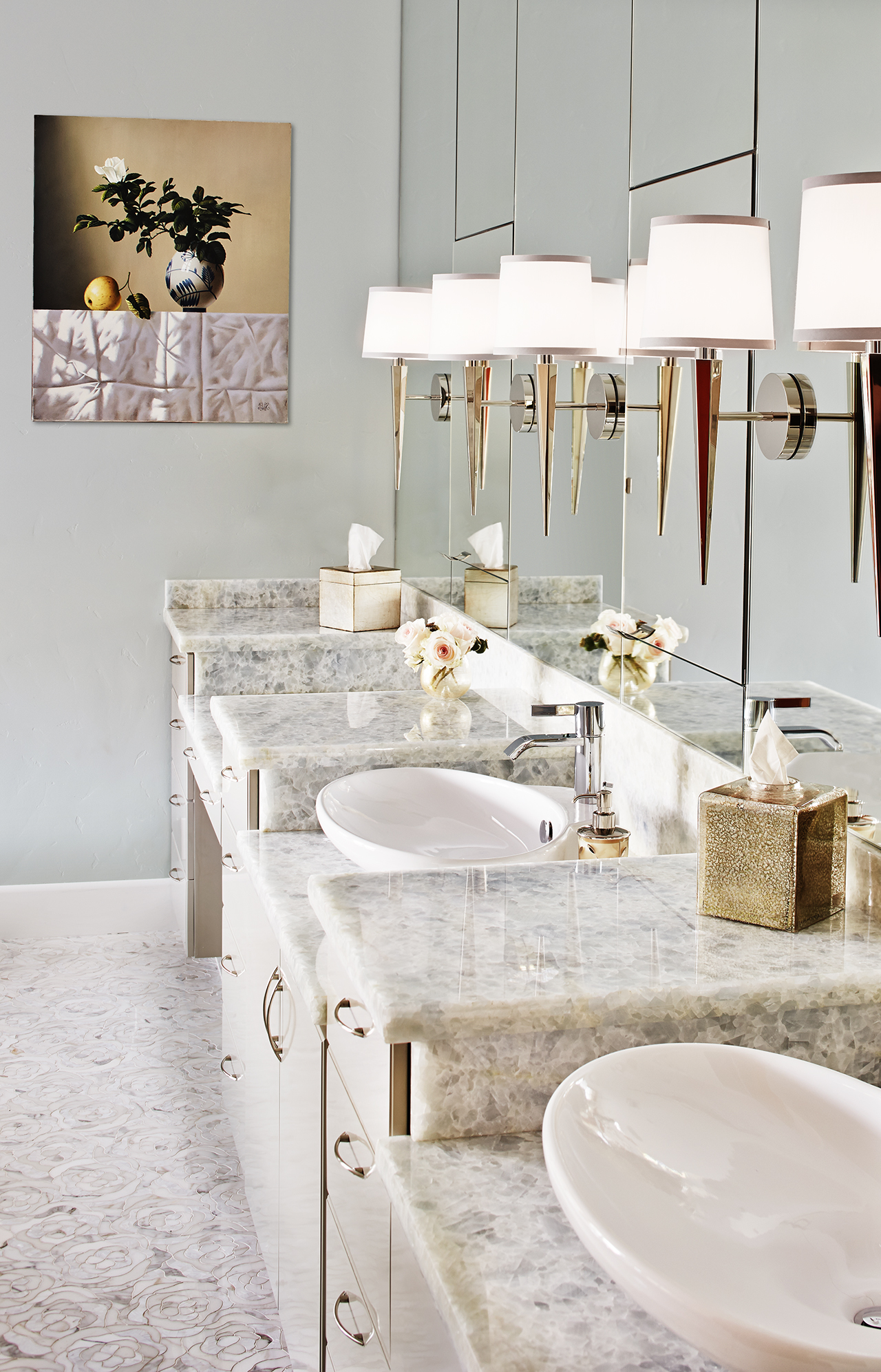 Artistic Tile Bathrooms by Staprans Design
