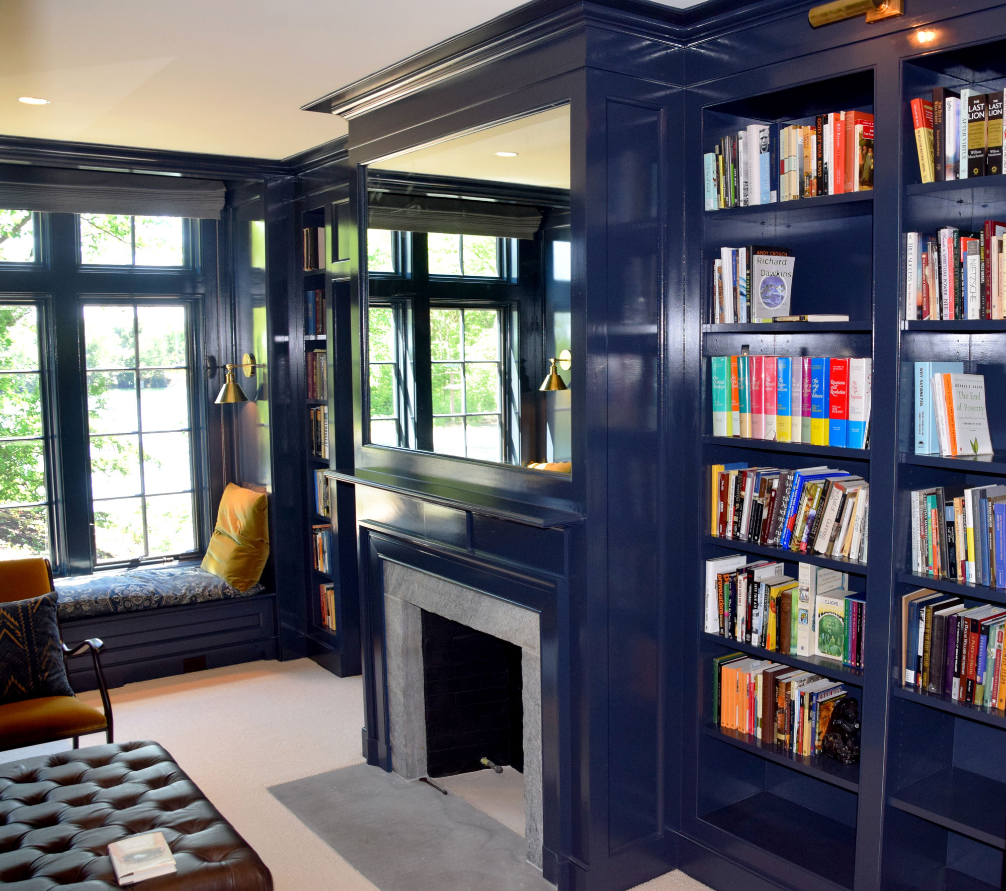 Willow Lake Residence: Library by Buccellato Design, LLC