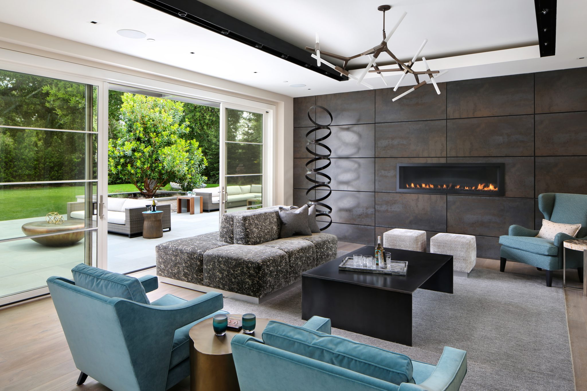 Atherton FunLiving Room by TRG Architecture + Interior Design