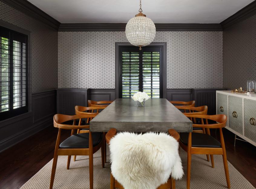 Wilmette Modern Dining Room by Jen Talbot Design