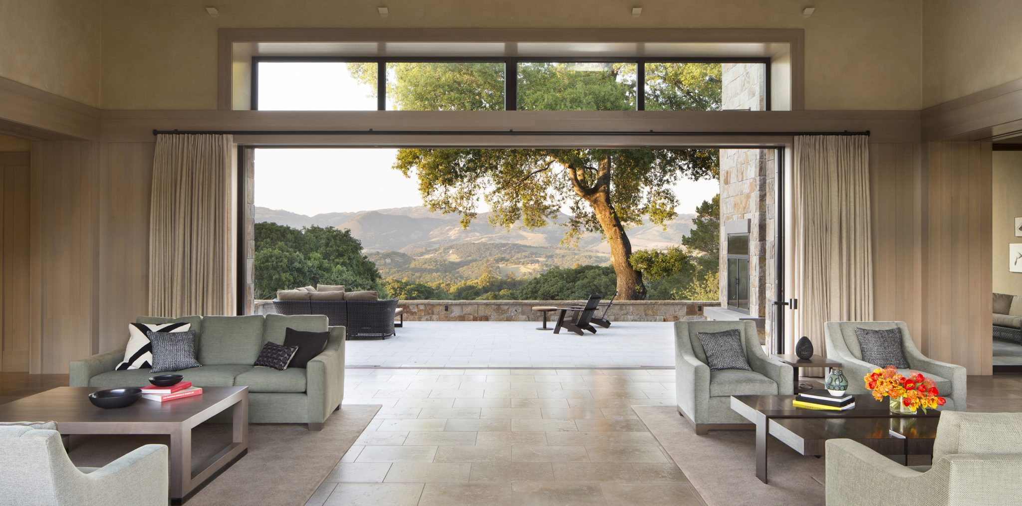 Living Room Bennett Valley Retreat by Wade Design Architects