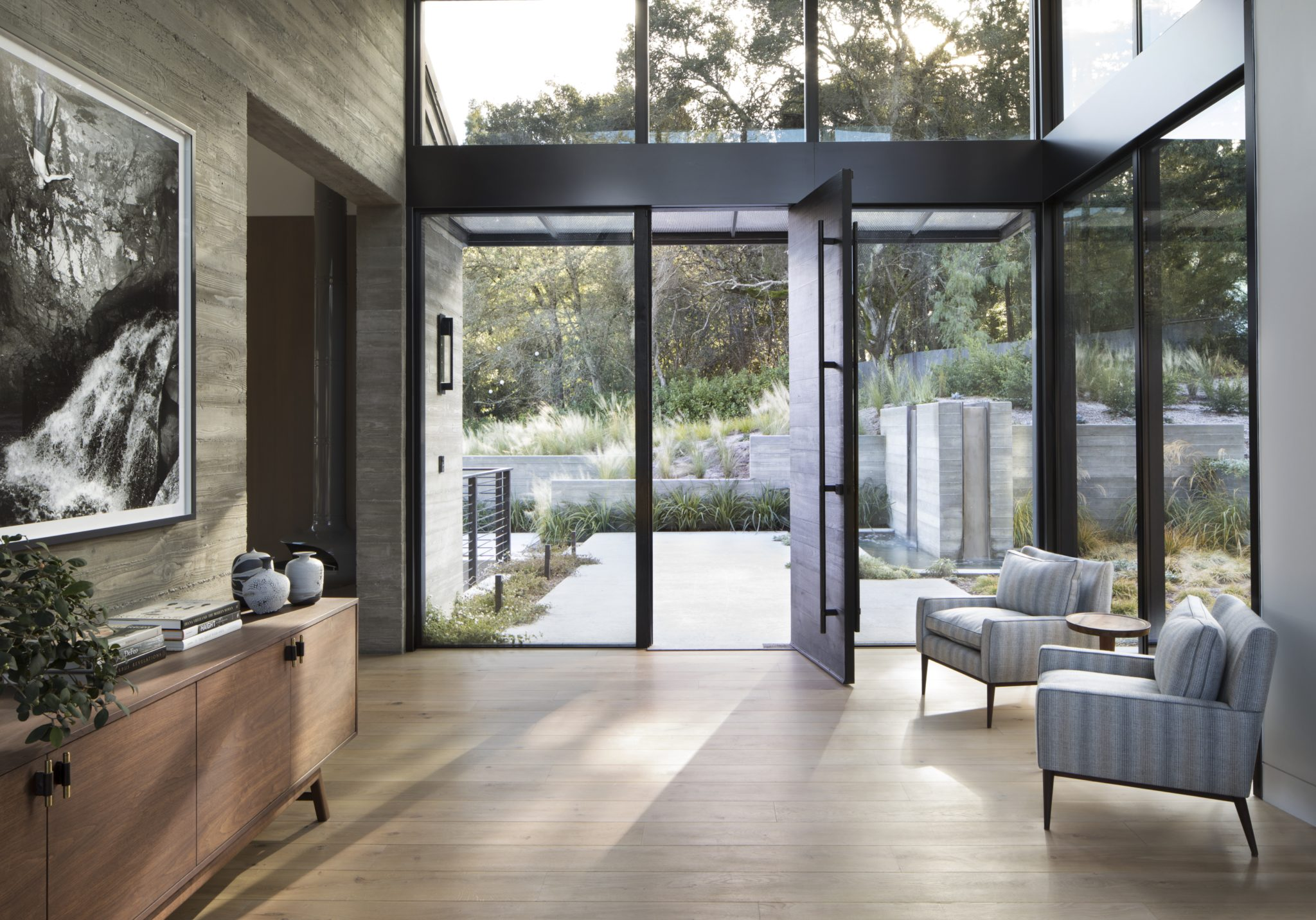 Entrance Hall of a Contemporary Mountain Retreat by Kendall Wilkinson