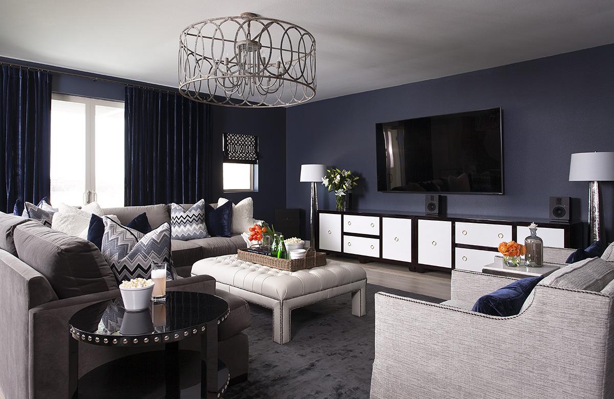 Luxurious Navy Living Rooms Chairish Blog