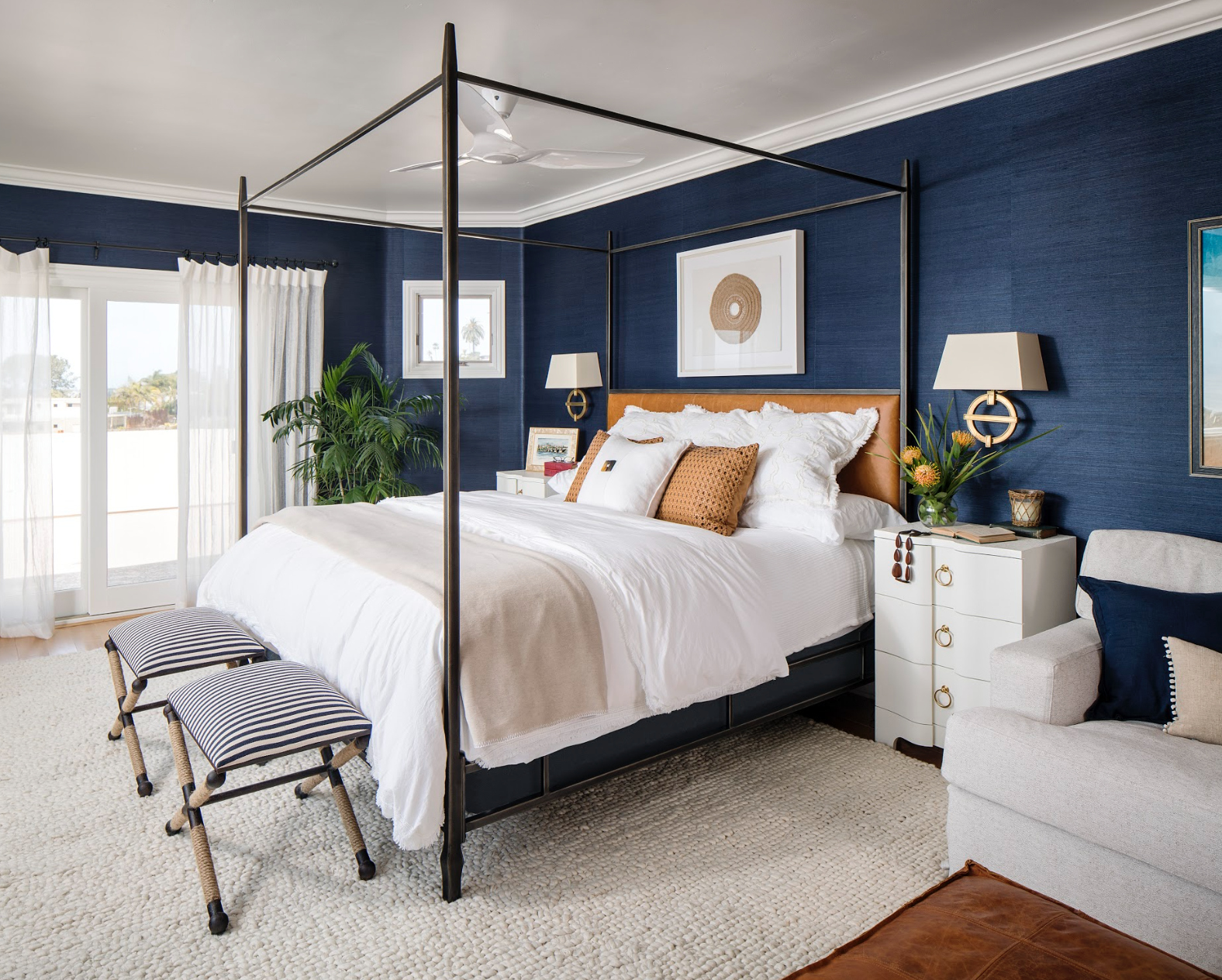 Solana Beach Master Bedroom by CM Natural Designs
