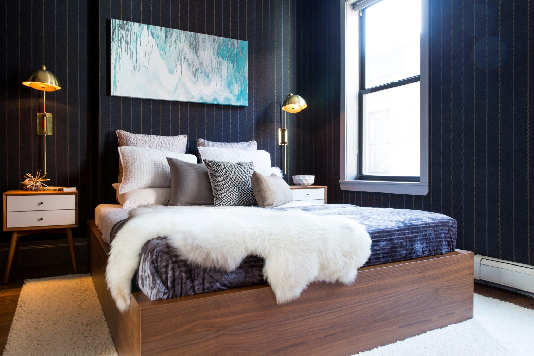 Luxury Harlem master bedroom by designs by human.