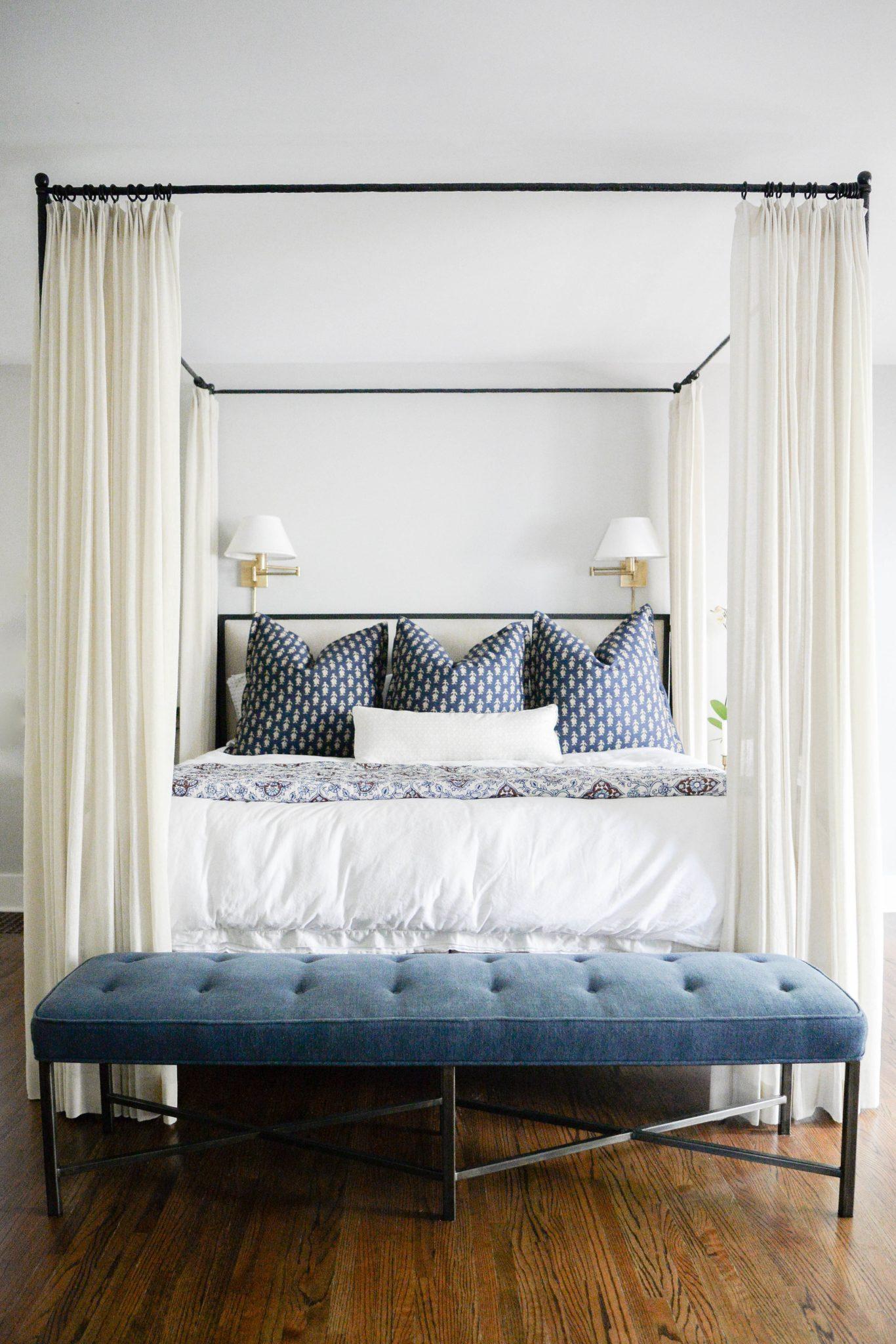 Sophisticated master bedroom by Austin Bean Design Studio