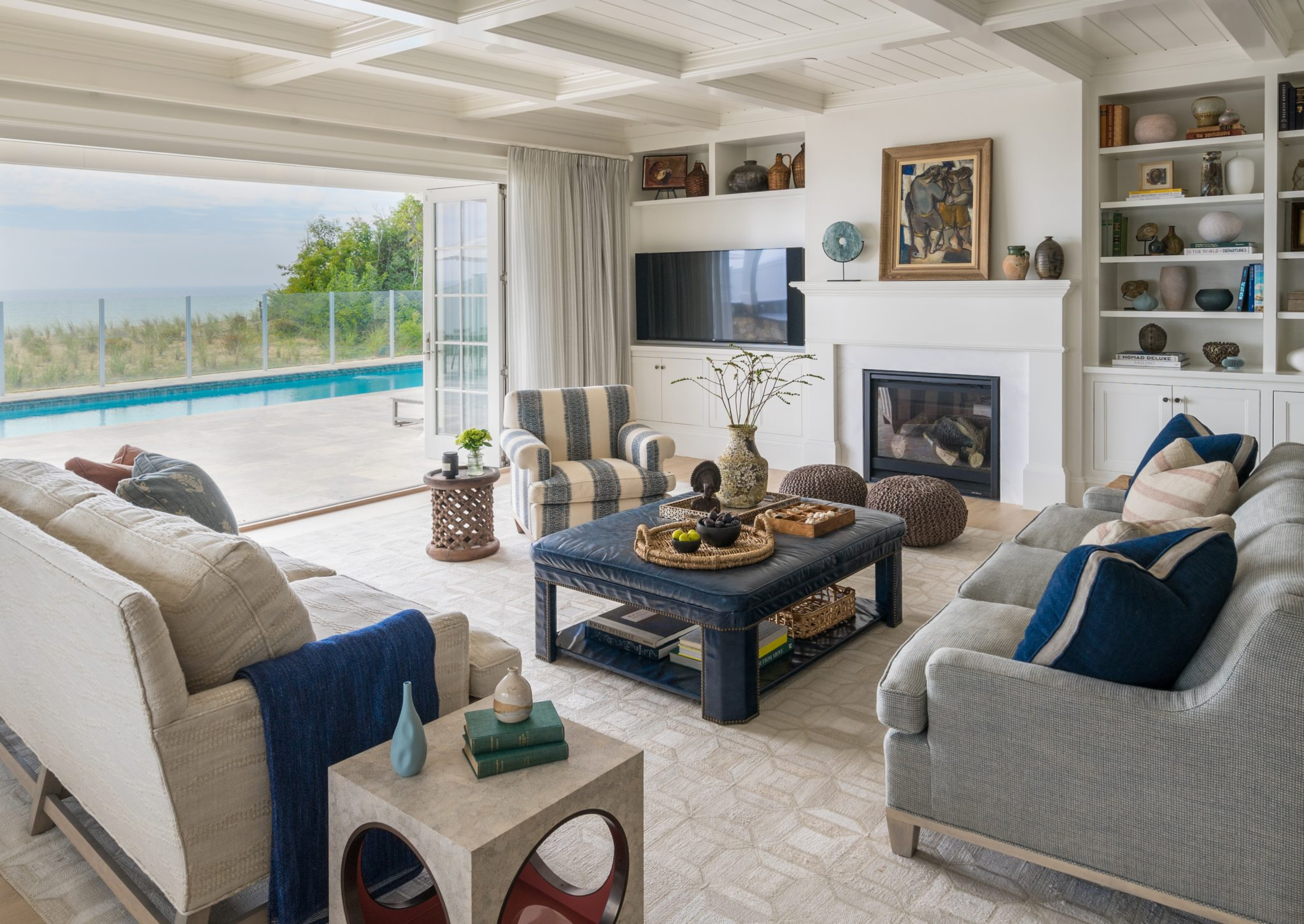 Indoor outdoor living on Cape Cod by Nina Farmer Interiors