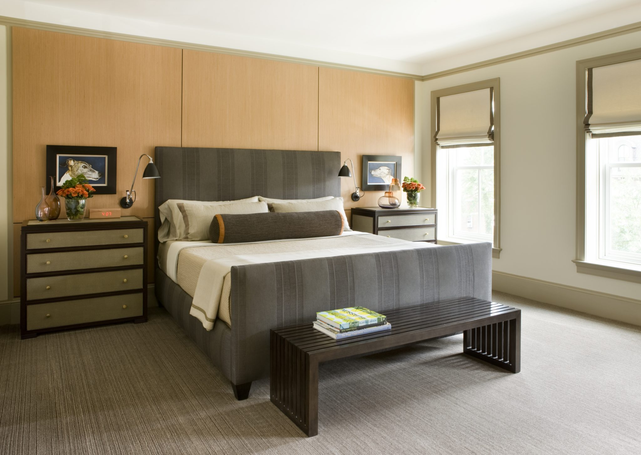 Master Bedroom in a Logan Circle rowhouse by J.D. Ireland Interior Architecture & Design