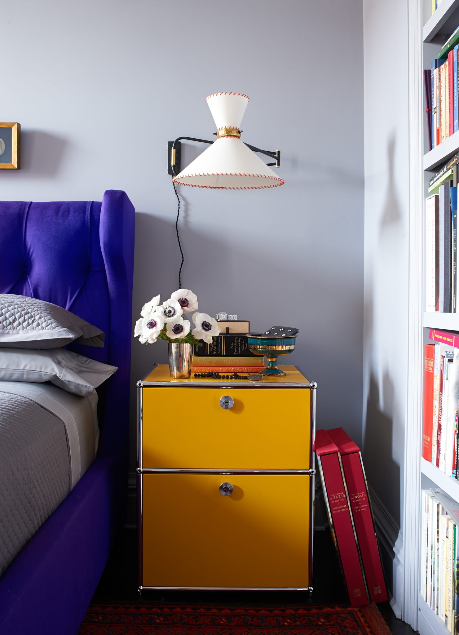 A vibrant bedroom by Wesley Moon Inc