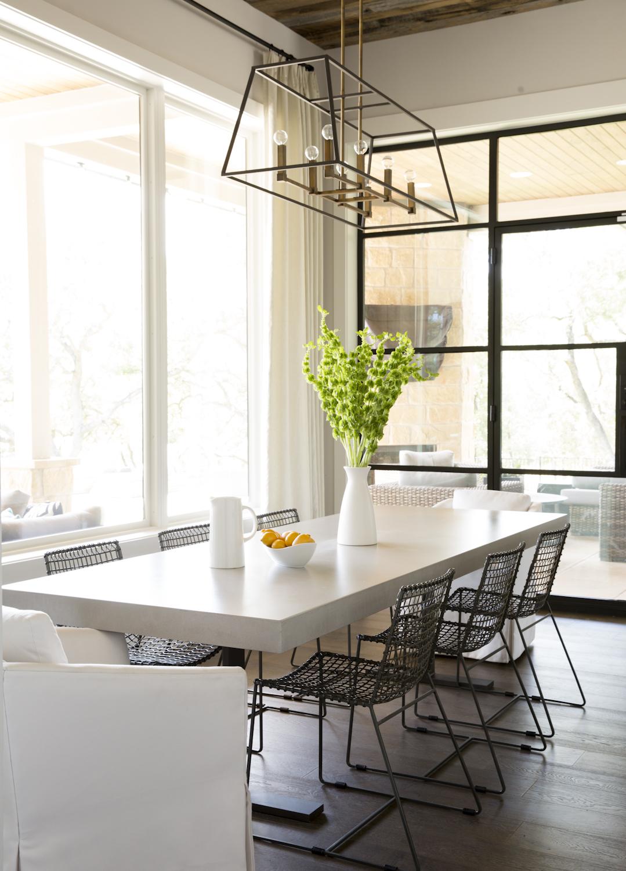 Dining room- Orisha Dr. Austin TX by Annie Downing Interiors