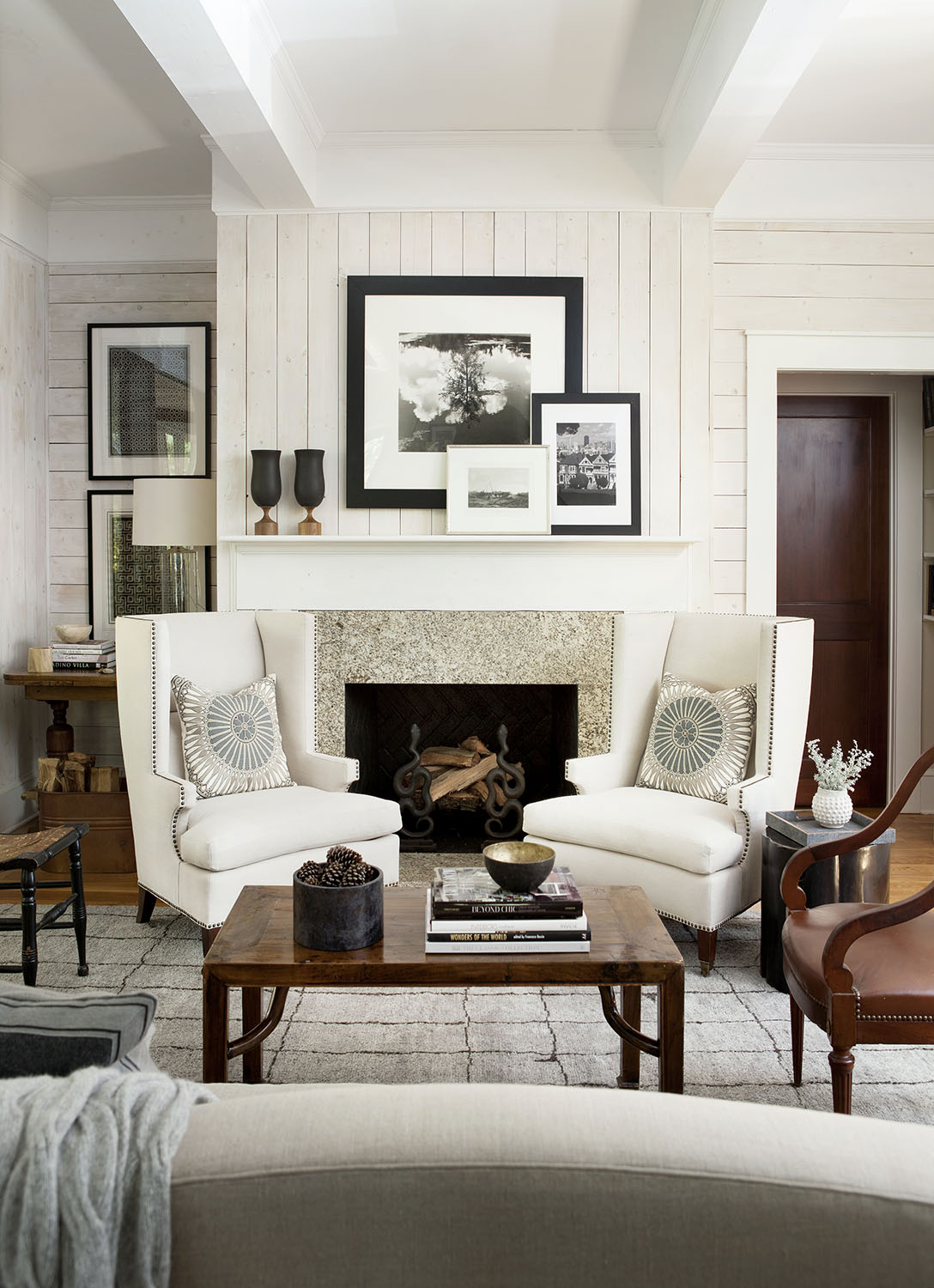 #6: Lake house living room designed by Robert Brown Interior Design. See more of his work here>