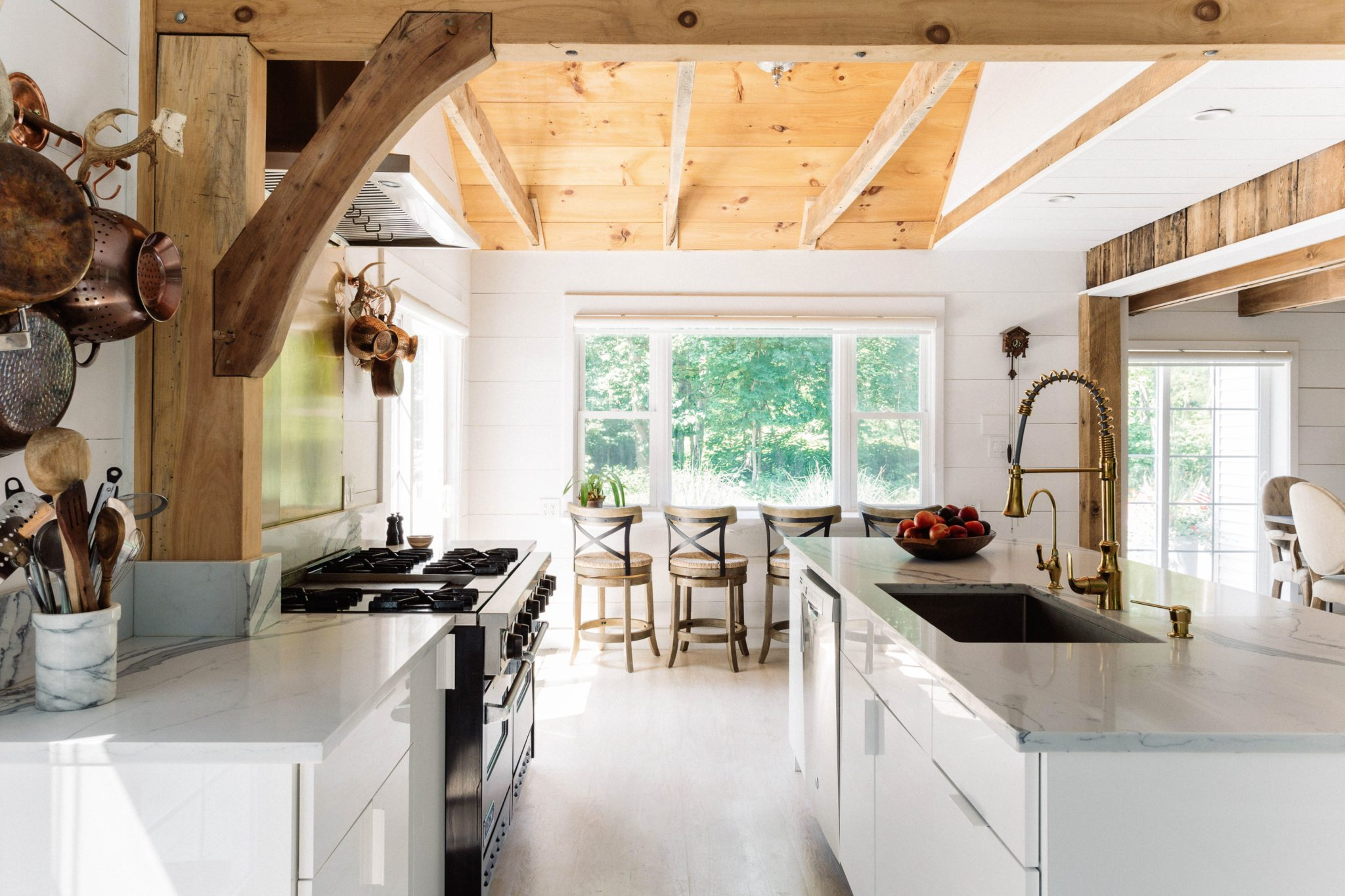 Country Kitchen With Contemporary Island by Art Home Garden