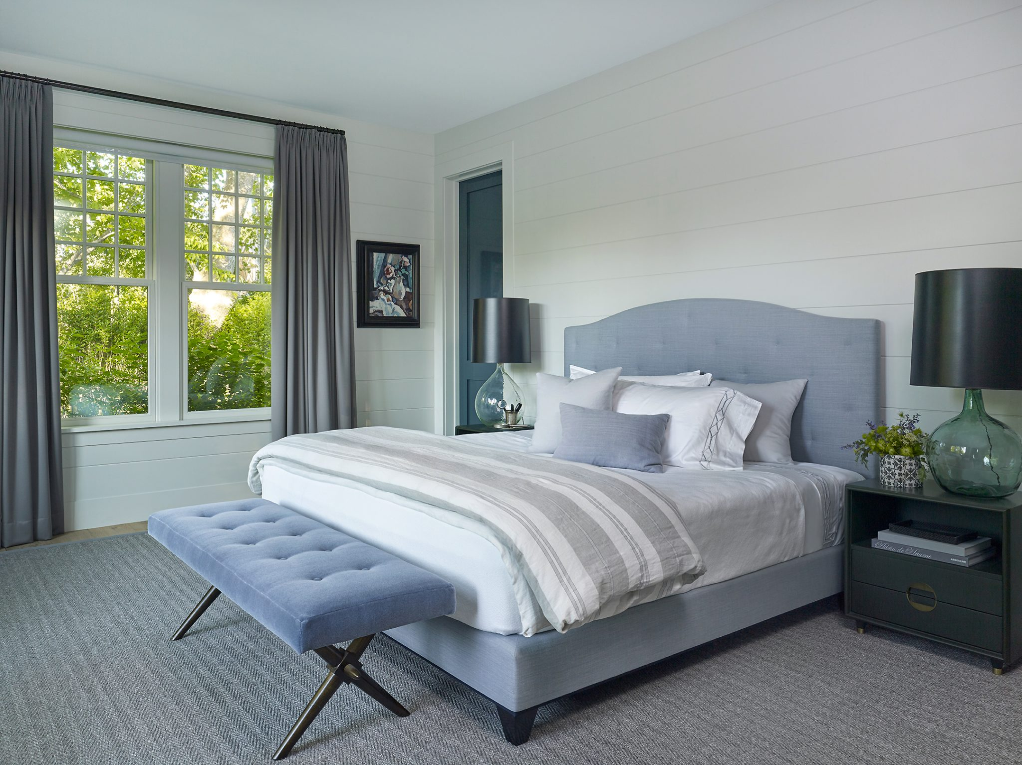 East Hampton bedroom by Dan Scotti Design