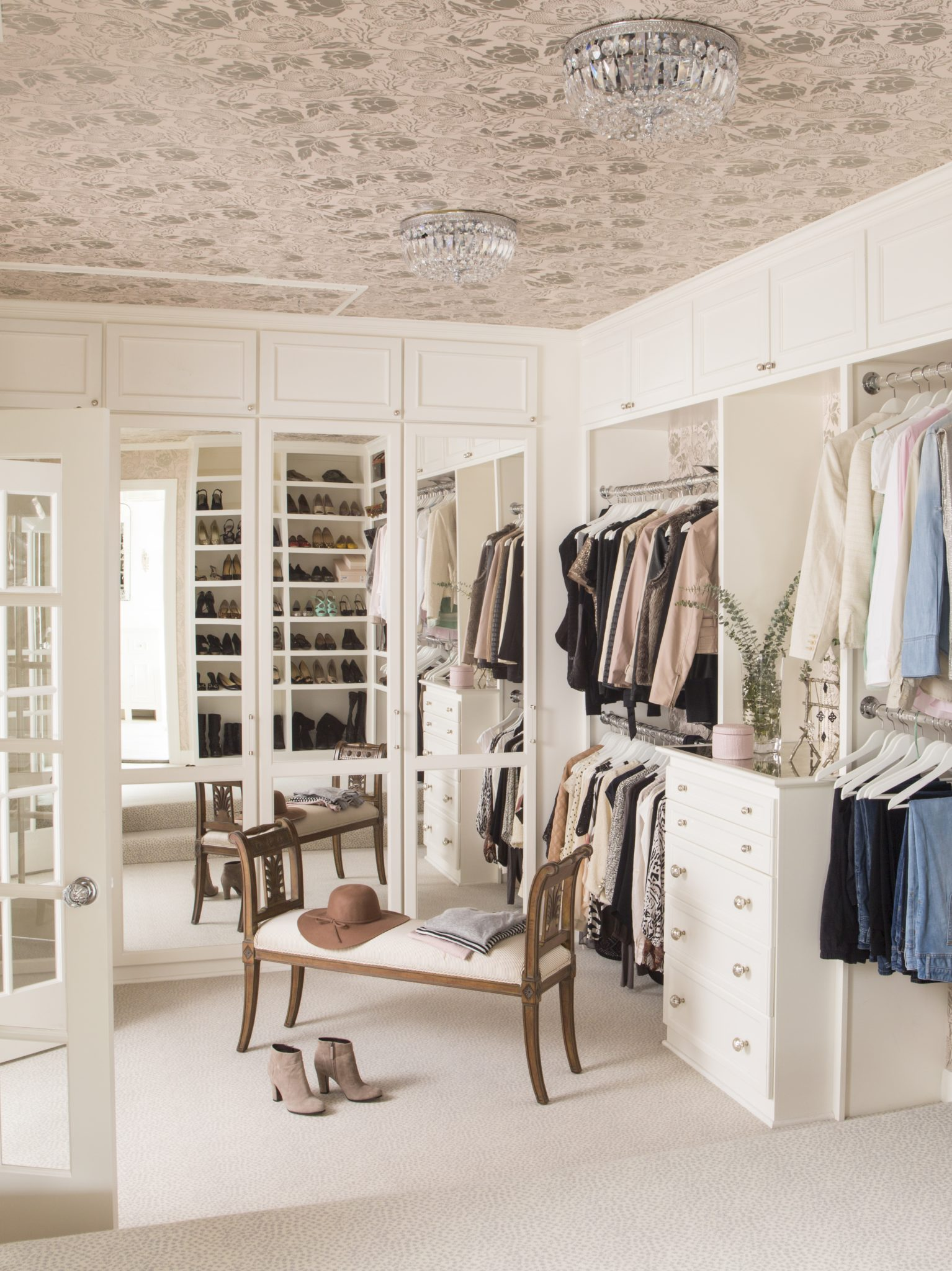 Alta Vista Master Closet by Kathryn Ivey Interiors