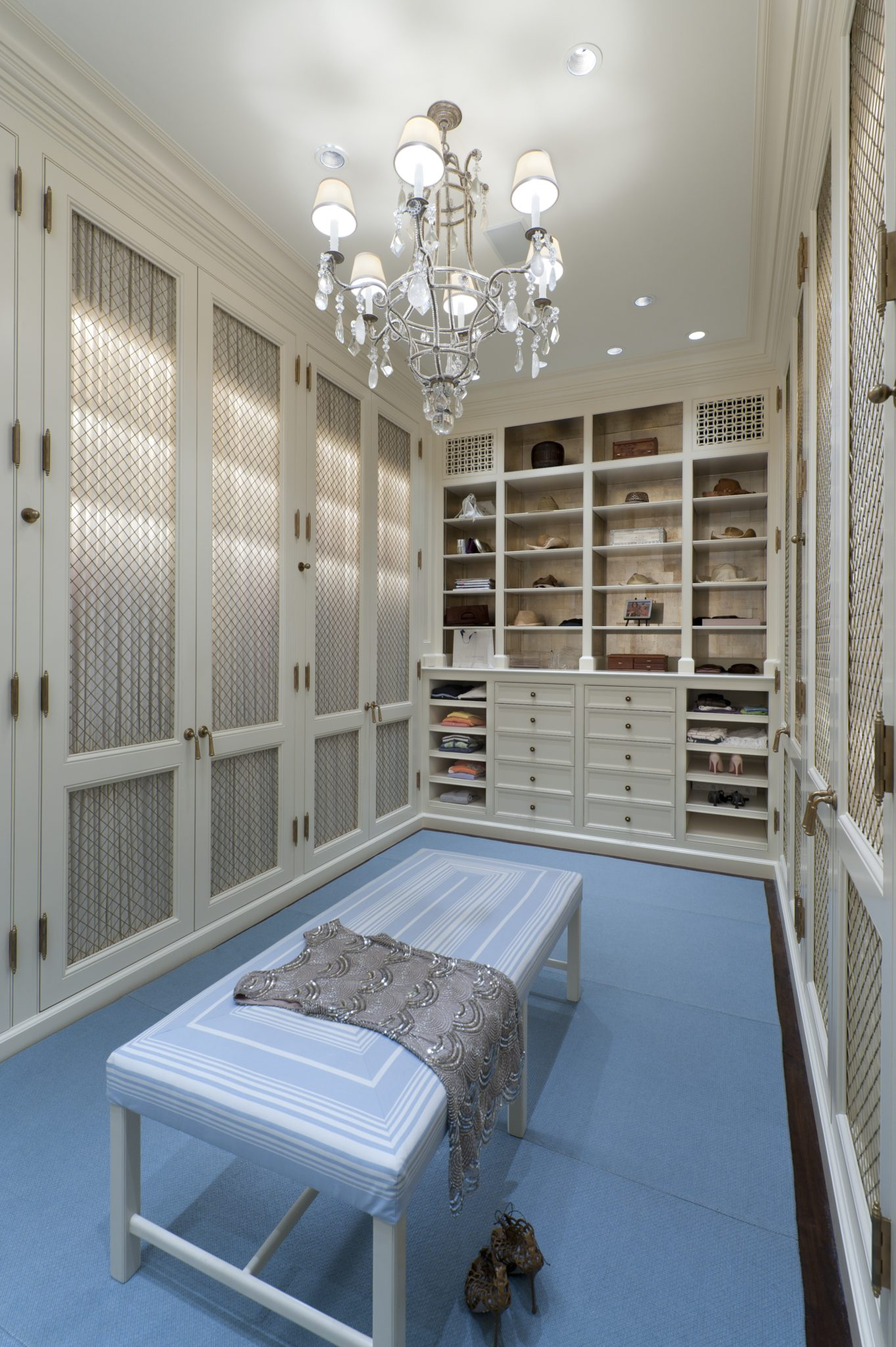 Interior Architecture of Miami Indian Creek Home featured in Architectural Digest - Her Closet by Brian O'Keefe Architect