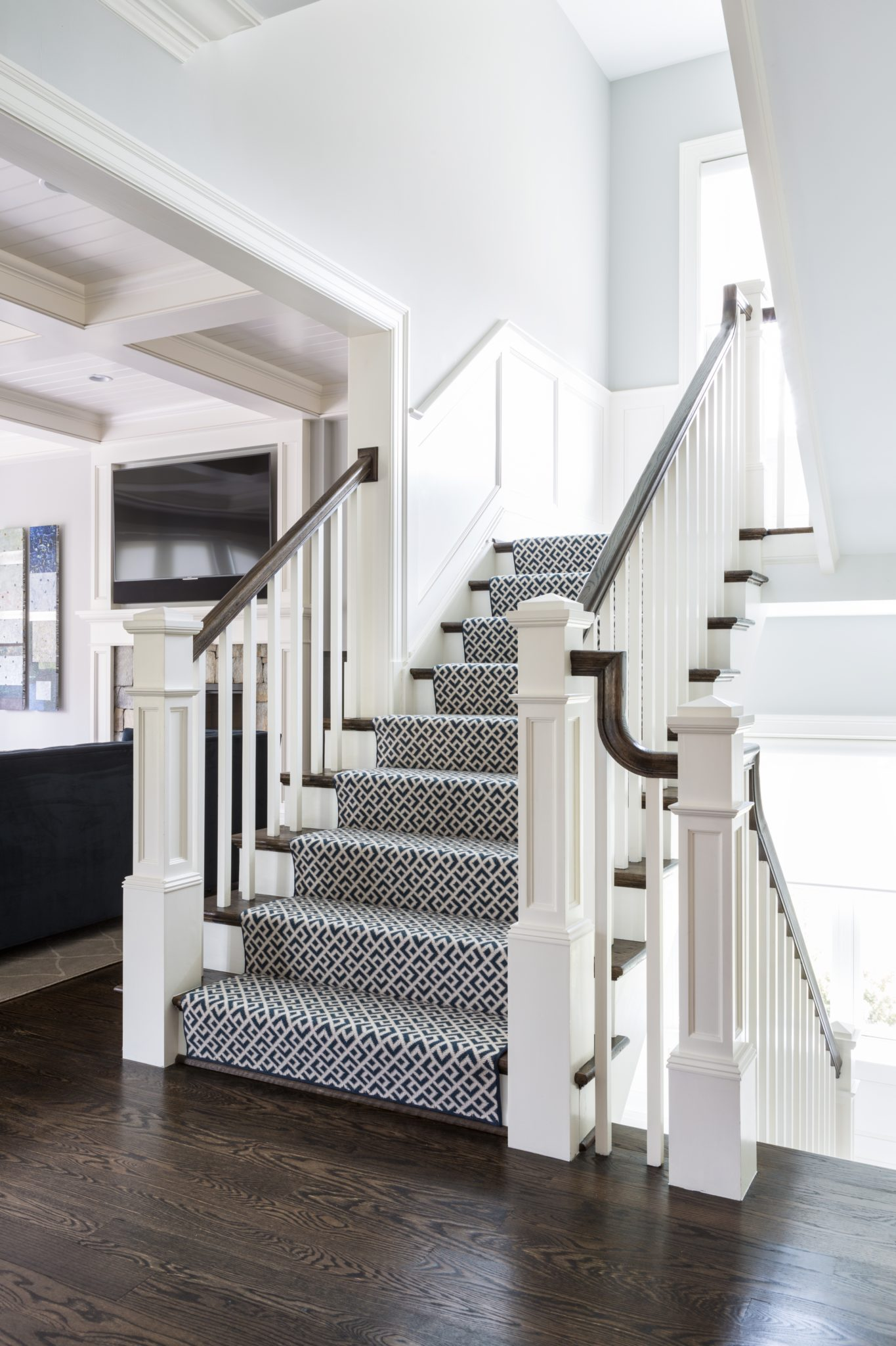 McLean II - Rich and Beautiful Staircase by Celia Welch Interiors