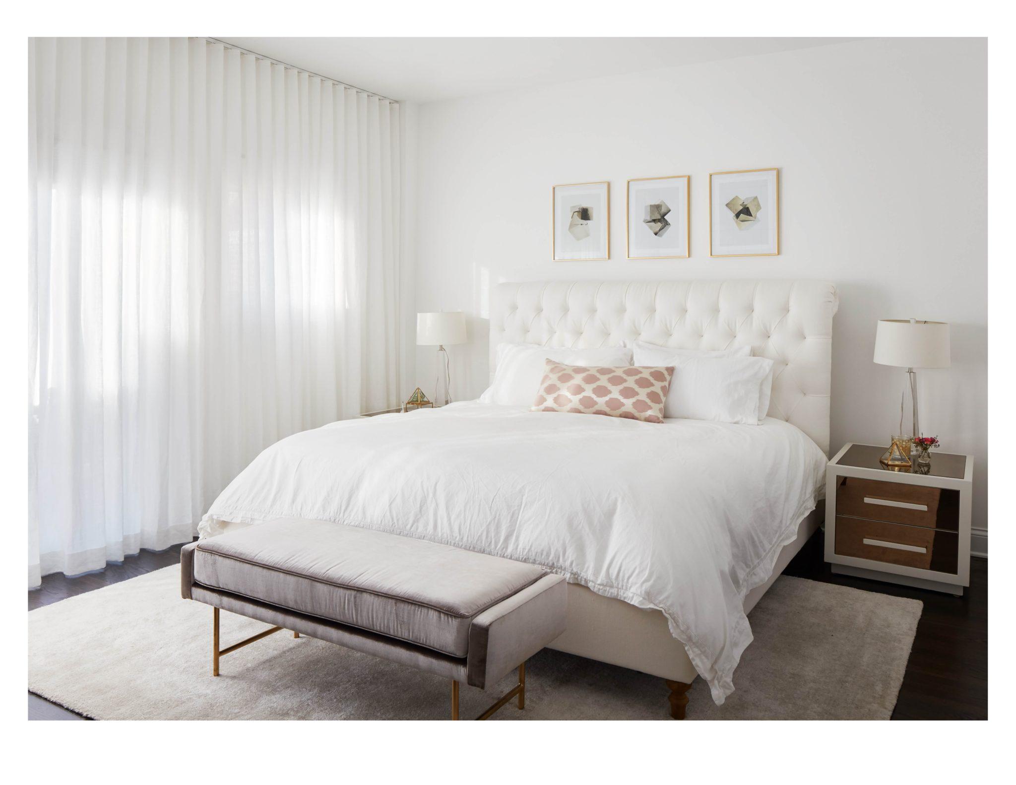 Lincoln Park master bedroom by Jen Talbot Design