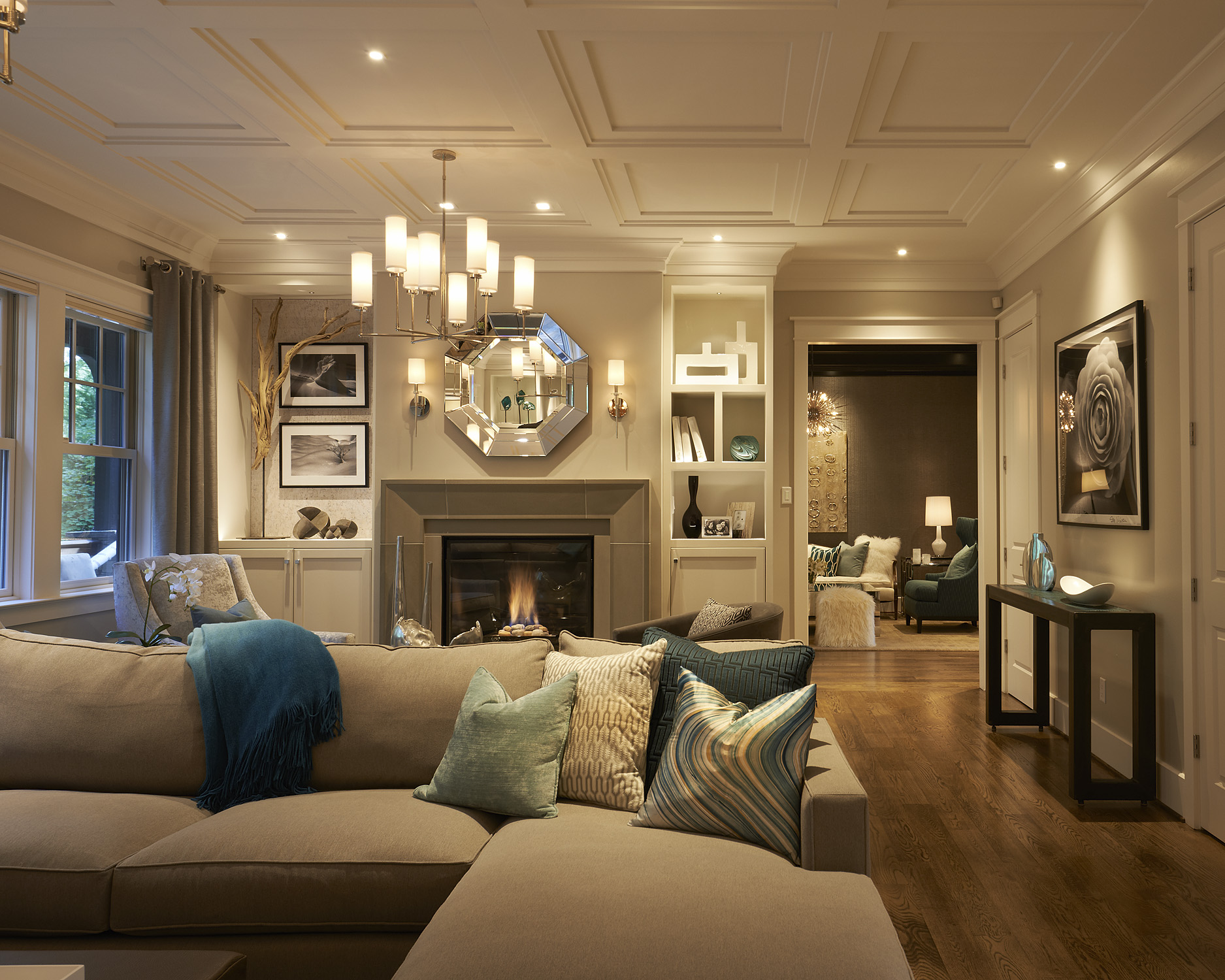 Transitional living room by Stratton Design Group