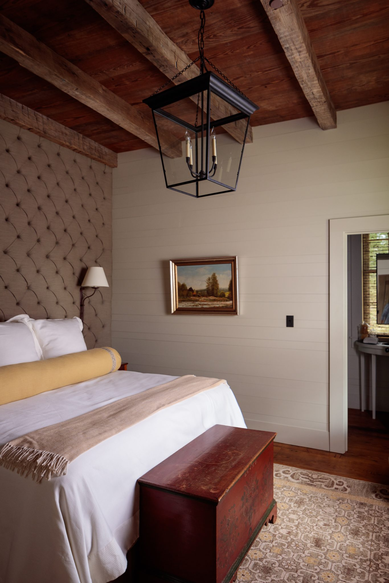 South Carolina Hunting Lodge Guest Bedroom by The Design Atelier