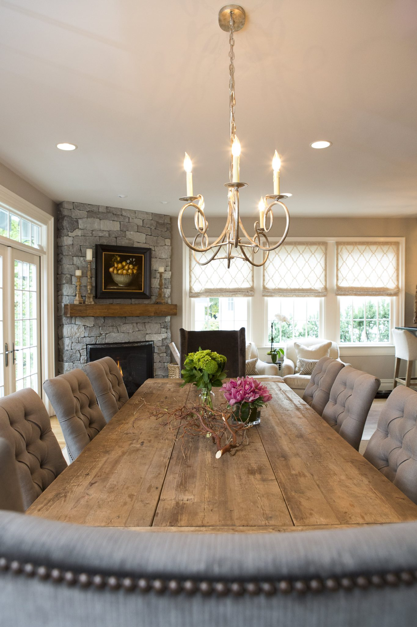 Livable Luxury - the old family room transitioned into a grand eat-in kitchen by House of Funk