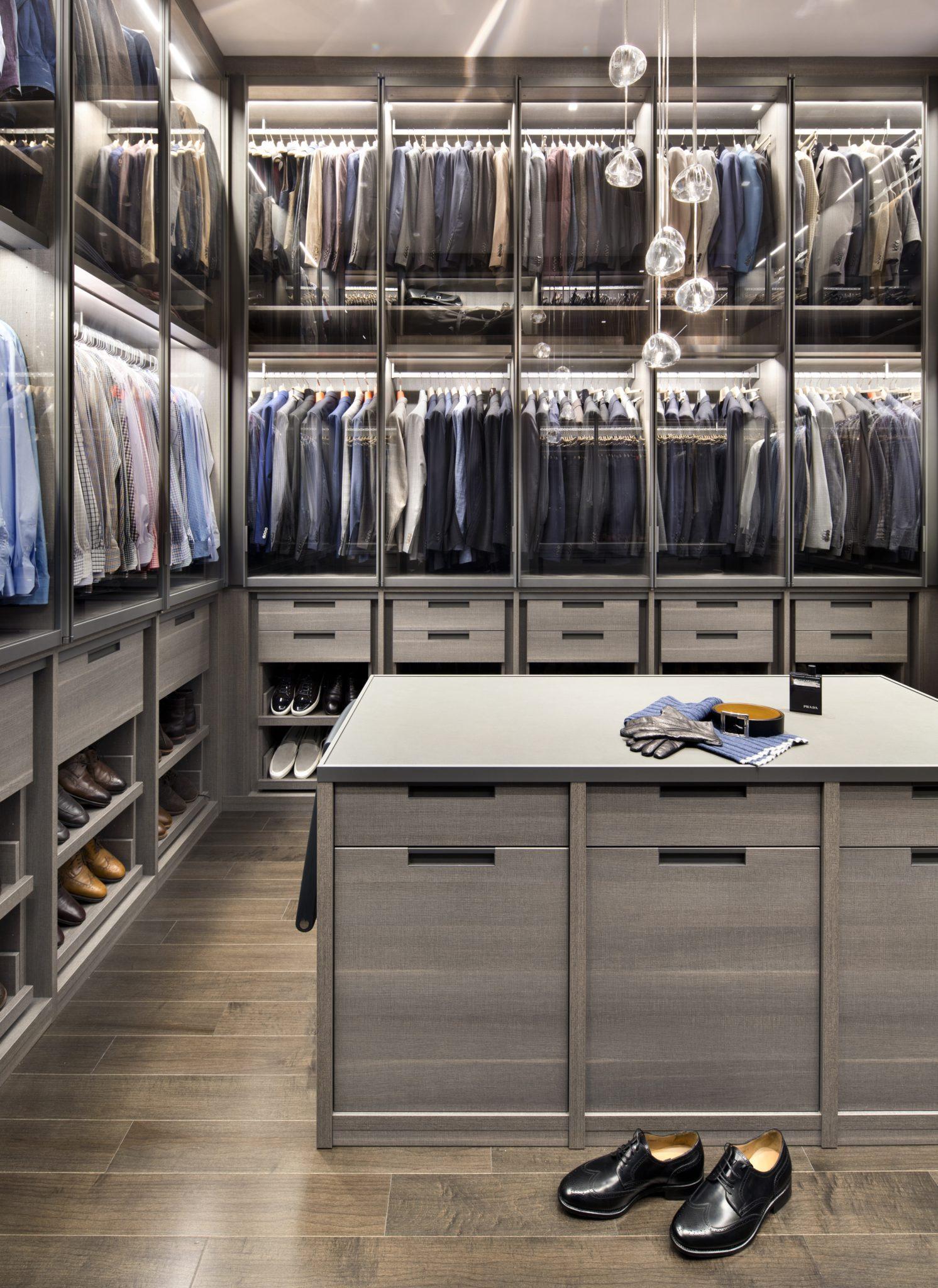 Modern Luxe | Men's Closet by TRG Architecture + Interior Design