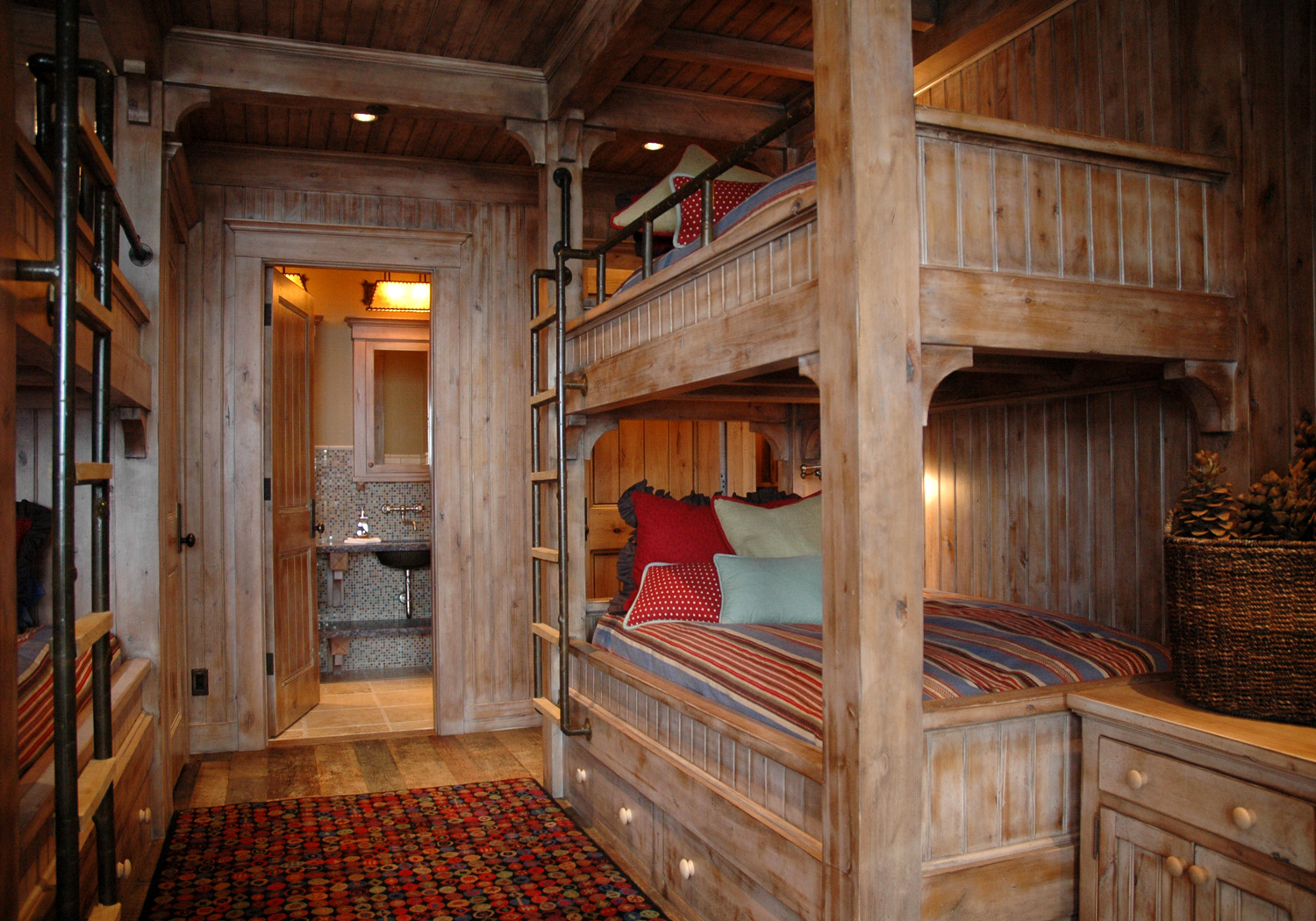 Paneled Bunk Room in a Ski House by Huestis Tucker Architects, LLC