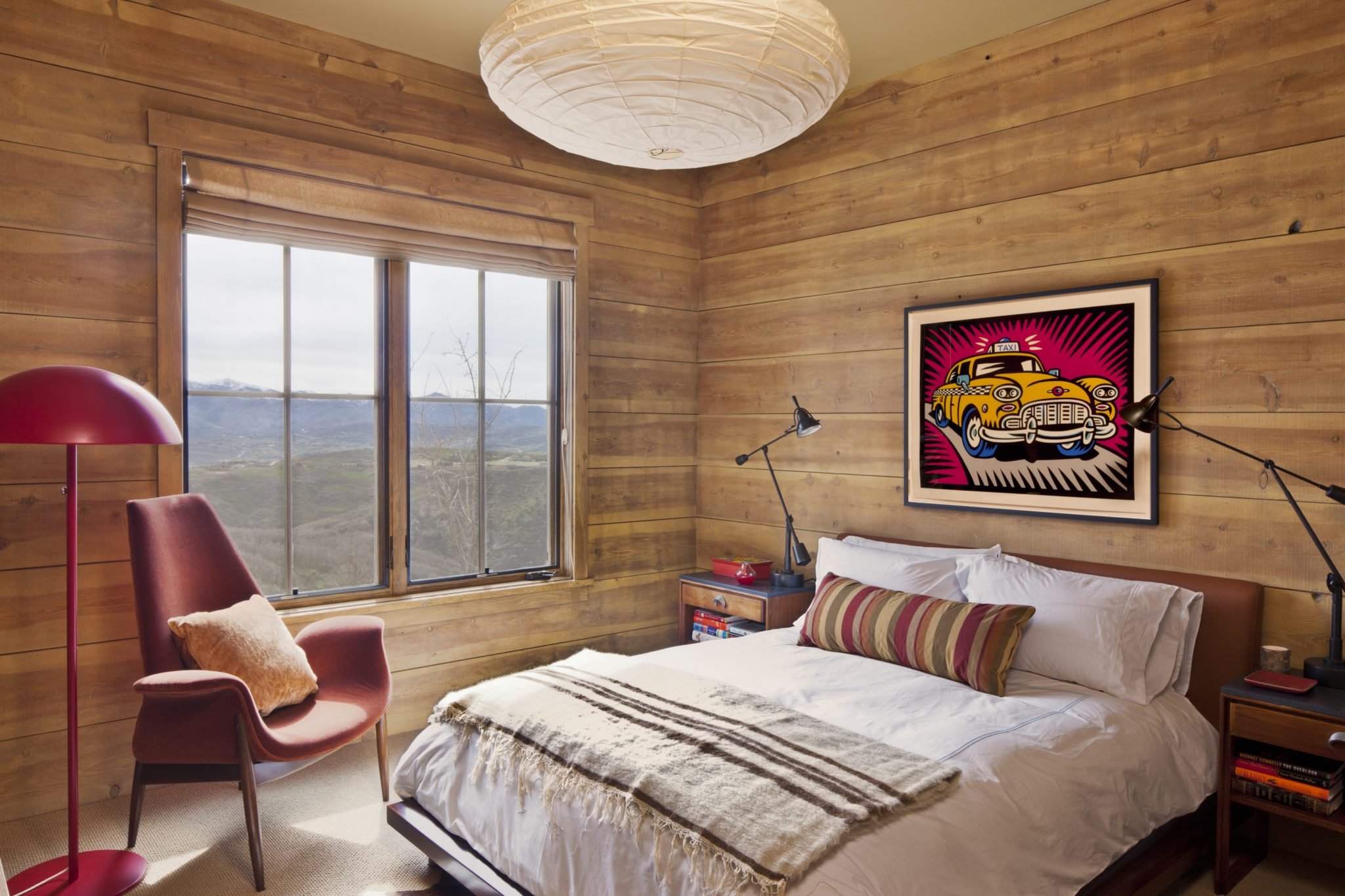 Inviting Guest Bedroom - Park City by Trip Haenisch & Associates