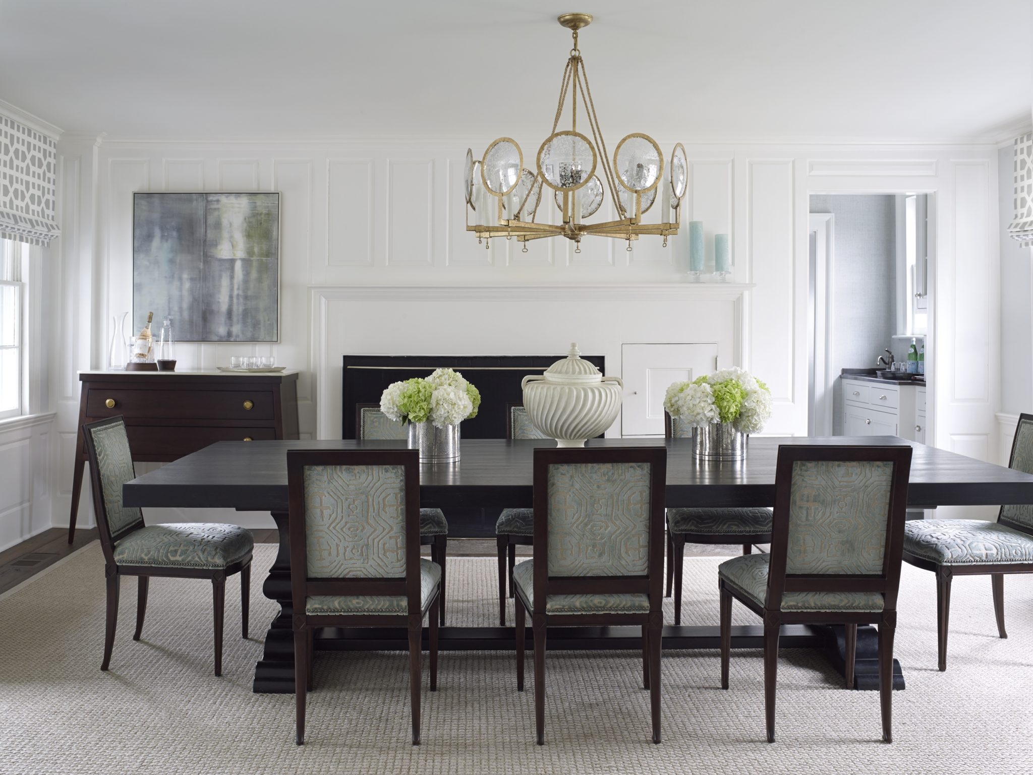 Southport, Connecticut, Dining Room by Ken Gemes Interiors